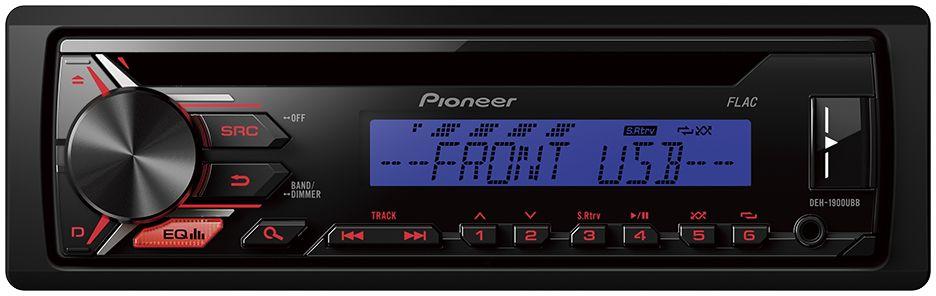 Pioneer DEH-1900UBB автомагнитола1025098Автомобильная магнитола Pioneer DEH-1900UBB позволяет слушать музыку с FM радиостанций, CD-дисков, Android смартфонов, USB-устройств или устройств, подключенных через Aux-вход. Встроенный усилитель MOSFET с выходной мощностью 4 х 50 Вт позволяет воспроизводить музыку в высоком качестве . Для того, чтобы увеличить мощность, можно воспользоваться RCA выходом на тыловой панели устройства для подключения дополнительного сабвуфера или усилителя.