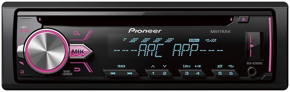 Pioneer DEH-X2900UI автомагнитола1025101Pioneer DEH-X2900UI оснащен встроенным усилителем на полевых транзисторах MOSFET с выходной мощностью 50 Вт на каждый из 4-х каналов. Вы можете подключить дополнительные компоненты, такие как сабвуфер или внешние усилители, к 2 RCA выходам, чтобы добиться большей мощности и улучшить качество звучания. Вы можете прослушивать музыку с CD-дисков, USB-накопителей, а так же принимать широкий диапазон радиостанций FM и AM диапазона. Воспроизводить MP3, WMA И WAV файлы можно с USB накопителей, а так же, подключив свой iPod, iPhone или Android смартфон к USB или Aux-входу на фронтальной панели. DEH-X2900UI позволяет получить доступ к библиотеке iTunes на вашем iPod/iPhone благодаря функции Direct Control, а так же к медиаданным Android смартфона для прослушивания любимой музыки. Кроме того, магнитола имеет поддержку протокола CDP 1.5 для Android, что позволяет ей быстрее заряжать Android устройства.