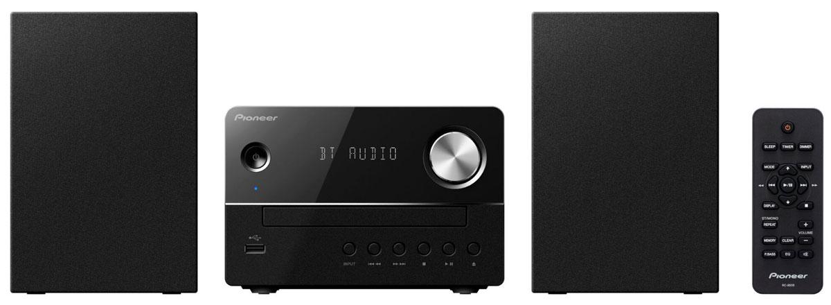 Pioneer X-EM26, Black музыкальный центр1500221Микросистема Pioneer X-EM26 суперкомпактна, а благодаря весу каждого компонента около одного килограмма она не окажется слишком тяжелой даже для не самых прочных полок - таким образом для CD-ресивера и обеих стереоколонок найдется подходящее место действительно в любой комнате. Простой и элегантный дизайн будет безупречно гармонировать с любым окружением. Помимо CD и FM-радио, модель X-EM 26 может также воспроизводить MP3-файлы с USB-флешек, а благодаря линейному входу систему даже можно расширить, подключив дополнительный аудиоплеер, например, портативный медиаплеер или сетевой плеер. Вы можете осуществлять беспроводную потоковую передачу музыки со своего смартфона прямо на микросистему благодаря поддержке беспроводного интерфейса Bluetooth. Pioneer X-EM26 приятно удивляет звучанием, которое гораздо объемнее по сравнению с тем, как выглядит система, и гибко подстраивается под привычки слушателей с помощью эквалайзера с пятью...