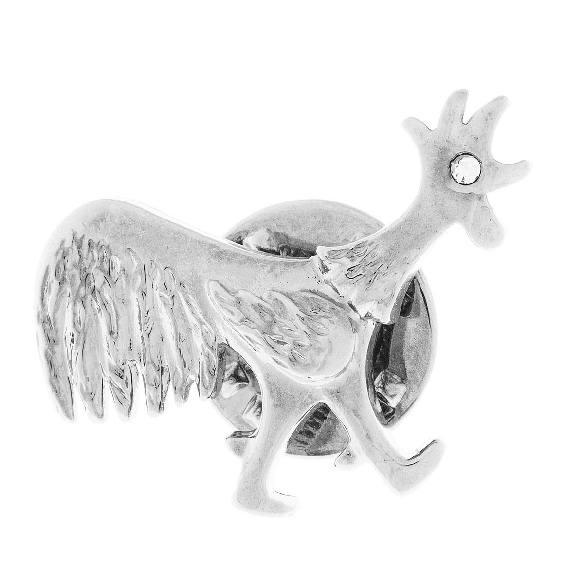 Брошь Jenavi Символ года. Забияка, цвет: серебро, белый. e1363600e1363600Коллекция Символ года, Забияка (Брошь) гипоаллергенный ювелирный сплав,Черненое серебро, вставка Кристаллы Swarovski , цвет - серебро, белый