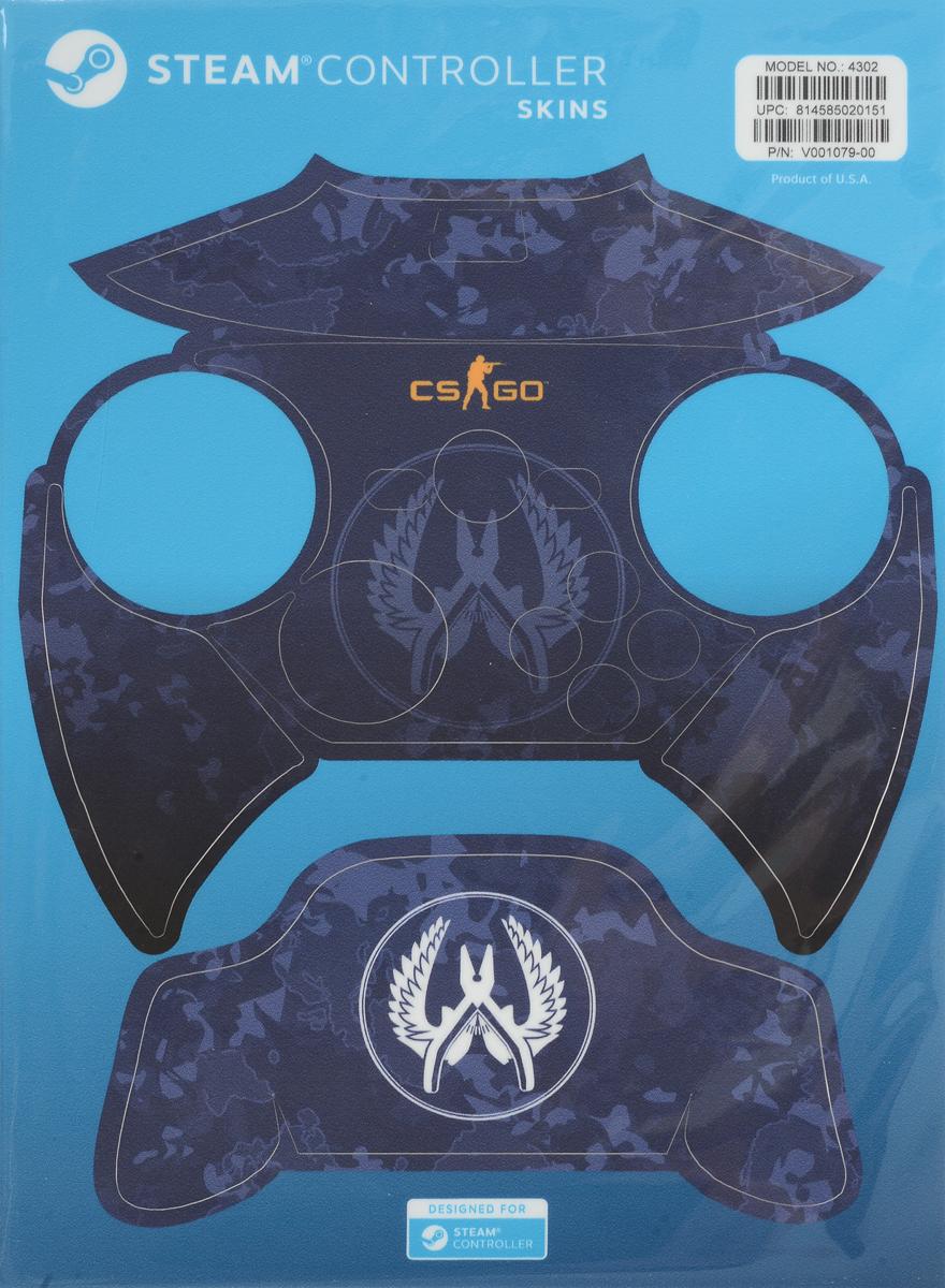 Valve CS:GO, Blue Camo комплект накладок для Steam Controller 814585020151