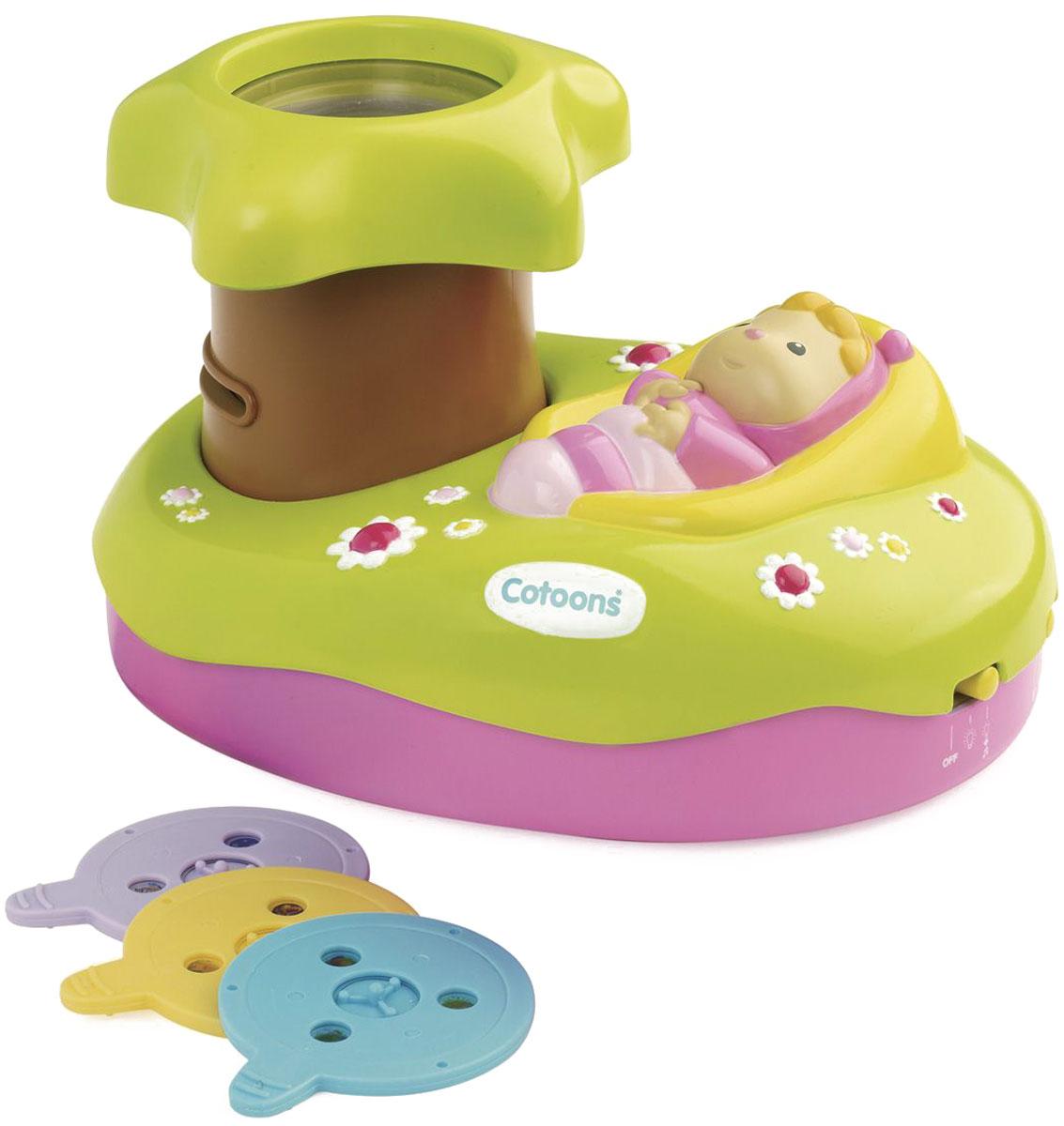 Smoby Светильник-проектор детский Cotoons со звуком211422Музыкальный проектор поможет вашему малышу расслабиться после насыщенного дня и быстрее заснуть. Милые картинки, которые проектор проецирует на потолок, и спокойная мелодия унесут кроху в мир сказочных снов. Устойчивая подставка, на которой закреплен ночник, оснащена отсеком для хранения сменных дисков с картинками.