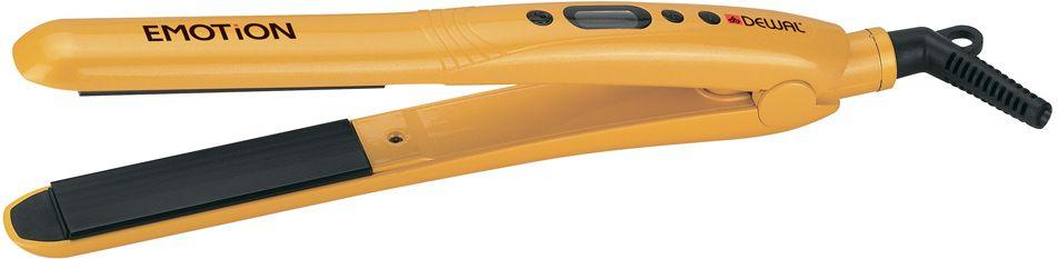 Dewal 03-401 Emotion, Yellow выпрямитель для волос03-401 YellowВыпрямитель для волос Dewal 03-401 Emotion справится даже с самым непослушными волосами. Данная модель оснащена качественным керамическим турмалиновым покрытием пластин. Выпрямитель прост в использовании благодаря стильному эргономичному дизайну.