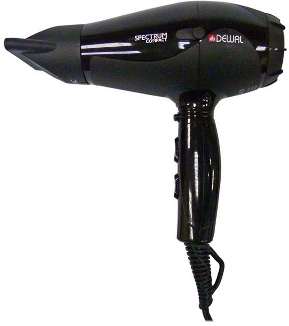 Dewal 03-109 Spectrum Compact, Black фен03-109 BlackФен Dewal 03-109 Spectrum Compact - самый мощный из компактных фенов Dewal. Его профессиональный мотор 2100 Вт создает мощный воздушный поток, который легко и быстро сушит волосы любого типа. Съемный воздушный фильтр позволяет своевременно чистить мотор фена от пыли. Генератор, встроенный в ручку фена, создает отрицательно заряженные частицы ионов, которые благотворно влияют на здоровье волос, а также нейтрализуют статическое электричество. Фен Dewal имеет 2 скорости, 3 температурных режима и кнопку мгновенного охлаждения. Таким образом можно выбрать индивидуальный режим сушки для каждого клиента. Мощный мотор - до 8 часов непрерывной работы; Высокая скорость воздушного потока. Корпус фена разработан с учетом оптимизации расхода воздуха; Защита от перегрева Stop-heat. Защитный механизм на нагревательном элементе фена охлаждает корпус, сохраняет мотор, защищая его от перегрева, а также поддерживает оптимальную температуру для волос.
