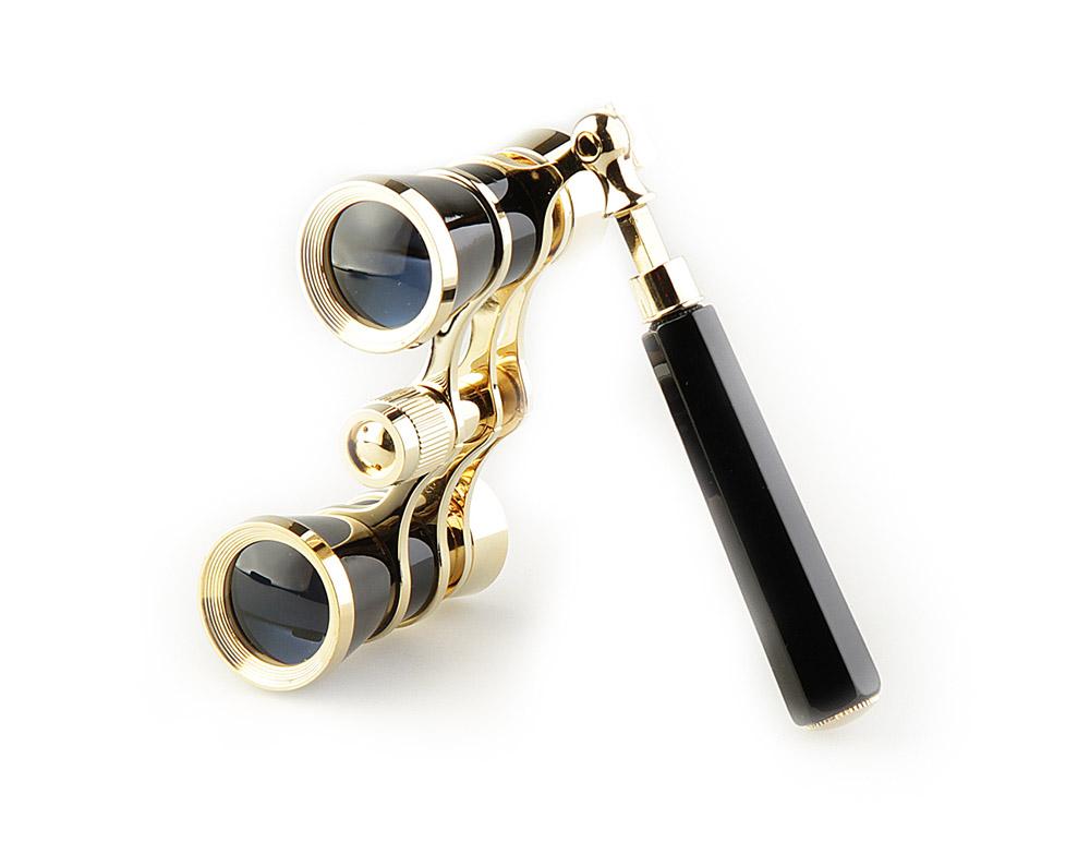 Бинокль Veber Opera, цвет: черный, БГЦ 3x25 E0910988Светосильный, корпус — металл, оптическое стекло с просветлением. Отделка глянцевым черным лаком и напыленным 18-ти каратным золотом. Регулируемое межзрачковое расстояние, фокусировка, лорнет. ОПИСАНИЕ Театральный бинокль Veber Opera БГЦ 3x25 (лорнет) - не только изящный аксессуар, но и незаменимый помощник в наблюдениях театральных, цирковых, эстрадных представлений, верный спутник на экскурсиях. Классическая галилеевская оптическая схема с центральной внутренней фокусировкой, заключенная в черный лакированный корпус с позолоченными (18к) элементами. Трехкратное увеличение и широкое поле зрения позволят вам насладиться представлением даже с галерки. Телескопическая длина ручки 10 - 16 см. Особенности Галилеевская оптическая система Центральная внутренняя фокусировка 3-х кратное увеличение Комплектация Бинокль Футляр-мешочек Ткань для протирки оптики Руководство по эксплуатации и гарантийный талон ...