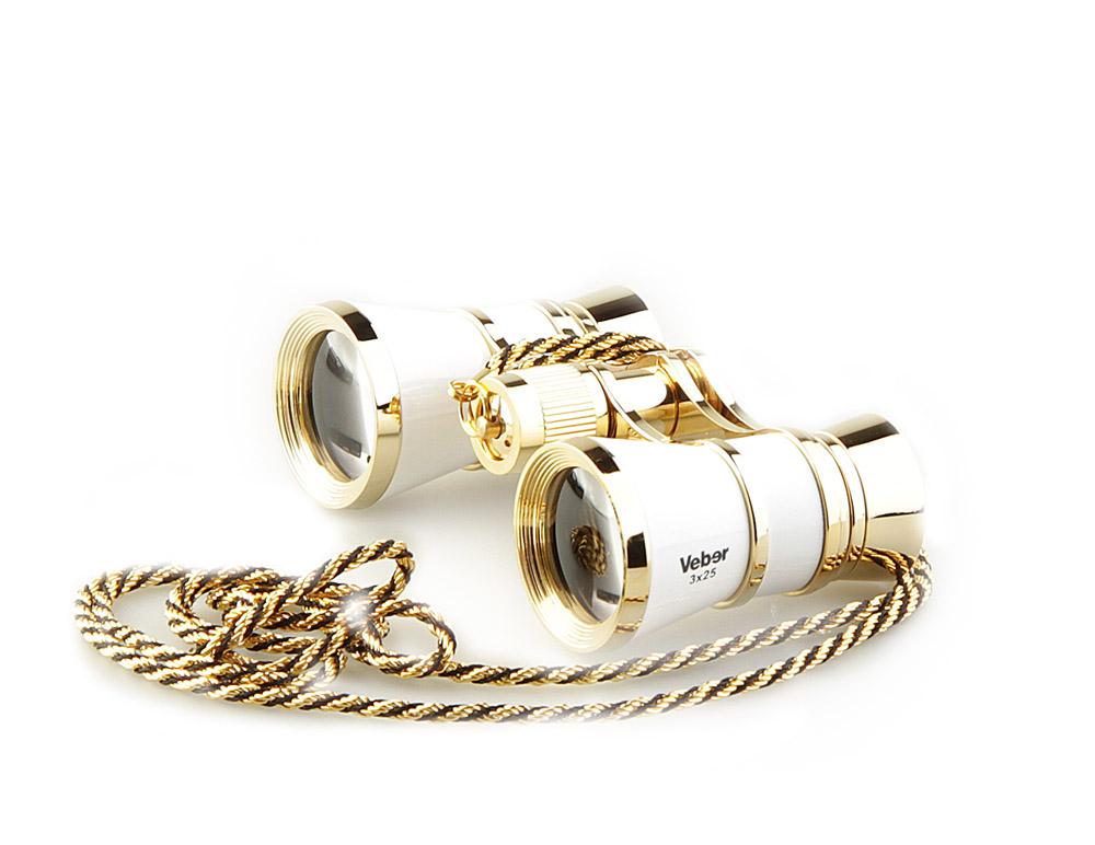Бинокль Veber Opera, с цепочкой, цвет: белый, БГЦ 3x25 D0110995Светосильный, корпус — металл, оптическое стекло с просветлением. Отделка глянцевым белым лаком и напыленным 18-ти каратным золотом. Регулируемое межзрачковое расстояние, фокусировка, металлическая цепочка. ОПИСАНИЕ Театральный бинокль Veber Opera БГЦ 3x25 - не только изящный аксессуар, но и незаменимый помощник в наблюдениях театральных, цирковых, эстрадных представлений, верный спутник на экскурсиях. Классическая галилеевская оптическая схема с центральной внутренней фокусировкой, заключенная в белый лакированный корпус с позолоченными (18к) элементами. Трехкратное увеличение и широкое поле зрения позволят вам насладиться представлением даже с галерки. Особенности Галилеевская оптическая система Центральная внутренняя фокусировка 3-х кратное увеличение Комплектация Бинокль Футляр-мешочек Ткань для протирки оптики Металлическая цепочка 100 см Руководство по эксплуатации и гарантийный талон Характеристики ...