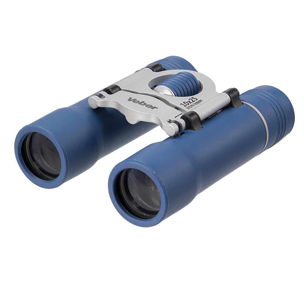 Бинокль Veber Sport, цвет: синий, БН 10x25 NEW11005Дизайнерское оформление и удобное управление настройками. Металлический обрезиненный корпус, просветленная оптика. Дополнительные резиновые кольца-прокладки в объективах и окулярах защищают от проникновения влаги. ОПИСАНИЕ Дизайнерский бинокль 10-крат. Удачное сочетание синего, черного и серебристого. Разумный компромисс между увеличением, светосилой, весогабаритными характеристиками и ценой. Все корпусные детали сделаны из металла. Трубки бинокля (включая окуляры) обклеены тонкой резиной (брызгозащищенное исполнение). Очень компактный. Особенности Очень компактный Призмы Roof Влагозащищенный Просветляющее покрытие оптических элементов Металлический обрезиненный корпус Комплектация Бинокль Футляр Ткань для протирки оптики Ремешок Гарантийный талон и инструкция Характеристики Диапазон рабочих температур, С от -20 до +40 Диаметр выходного зрачка, мм 2.5 Угловое поле зрения, град....