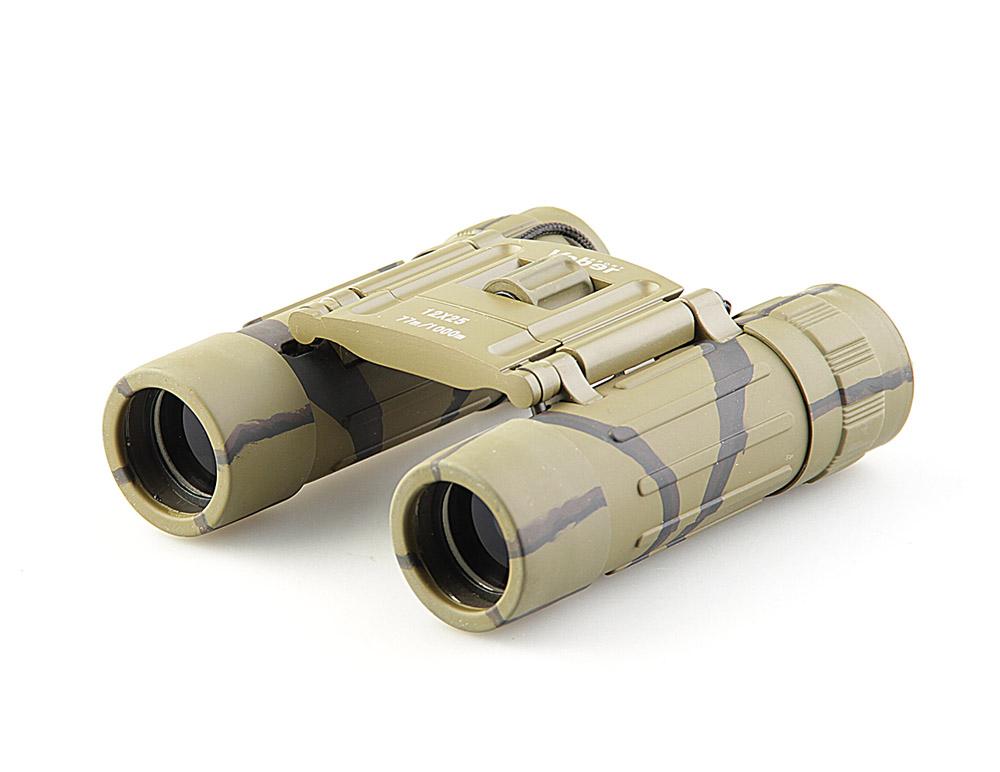 Бинокль Veber Sport, цвет: камуфляж, БН 12x2511010Легкий, «карманного» размера, с центральной фокусировкой с диоптрийной подстройкой. Обрезиненный, металлический корпус, качественное оптическое стекло с просветляющим покрытием. ОПИСАНИЕ Бинокль 12-крат. Разумный компромисс между увеличением, светосилой, весогабаритными характеристиками и ценой. Удобно лежит в руке. Благодаря легкому весу наблюдение можно вести длительное время, но отрывая прибор от глаз. Поэтому биноклю всегда найдется место в кармане куртки или рубашки, в бардачке машины, дамской сумочке или барсетке. Все корпусные детали сделаны из металла. Трубки бинокля (включая окуляры) обклеены тонкой резиной (брызгозащищенное исполнение). Особенности Компактный Призмы Roof Влагозащищенный Просветляющее покрытие оптических элементов Металлический обрезиненный корпус Комплектация Бинокль Футляр Ткань для протирки оптики Ремешок Гарантийный талон и инструкция Характеристики Диапазон...