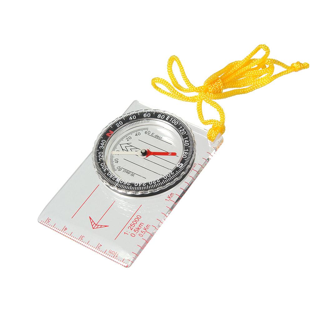 Компас Veber, цвет: белый, DC40-111143Компас для спортивного ориентирования, с линейкой для карт масштабом 1:25000. ОПИСАНИЕ Компас спортивный состоит из основания (планшета) с линейкой для часто используемых масштабов карт 1:25000 (0.5 km), специальные направляющие красные параллельные линии, используемые для движения по азимуту. На планшете укреплена вращающаяся колба с компасом. Внутри капсулы находится магнитная стрелка, на дне капсулы параллельные линии для ориентирования компаса по линиям магнитного меридиана и индексы S, N, W, E для правильной ориентации компаса относительно северного направления. Сверху капсулы находится шкала азимута. Характеристики Цена деления шкалы азимута 2 Длительность успокоения магнитной стрелки не более 5 с. Диапазон рабочих температур от -20С до + 30С Габаритные размеры 55х83х10 мм Вес 31 г
