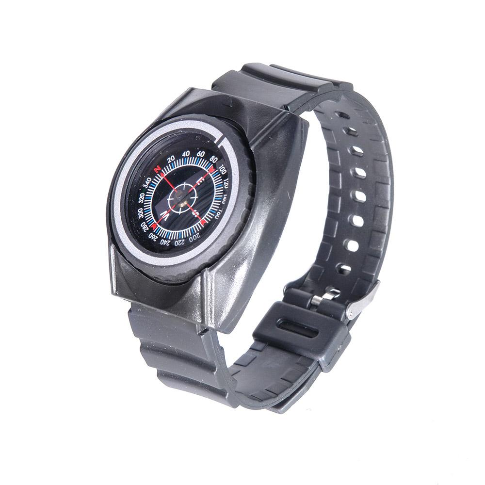 Компас Veber, наручный, цвет: черный, К30311146Туристический компас с ремешком на запястье, выполнен в виде наручных часов. Изготовлен из пластика и резины. Внутри капсулы компаса размещена магнитная стрелка совмещенная с циферблатом. ОПИСАНИЕ Туристический жидкостный компас с ремешком на запястье, выполнен в виде наручных часов. Изготовлен из пластика и резины. Внутри капсулы компаса размещена магнитная стрелка совмещенная с циферблатом. На циферблате имеется шкала градусов с ценой деления 4? и индексы N, E, S, W, (N-север, S-юг, E-восток, W-запад). На отдельном вращающемся основании расположена визирная метка для определения азимута. Характеристики Цена деления шкалы азимута 4? Длительность успокоения магнитной стрелки около 5 с Диапазон рабочих температур от -20?С до +30?С Материал корпуса пластик, резина Габаритные размеры (без ремешка) 49х43х17 мм Вес 30 г