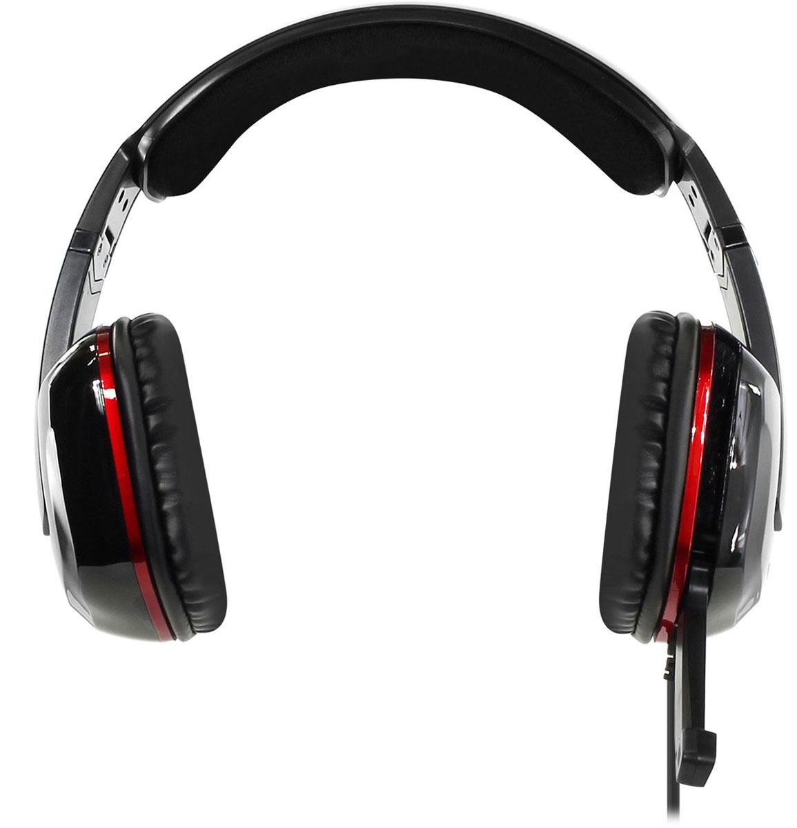 Qcyber GH9000, Black игровые наушникиGH9000blackИгровая гарнитура Qcyber Dragon Black предлагает пользователю насладиться всеми преимуществами виртуализированного звука 7.1. Восьмиканальная система пространственного звучания, обычно идущая в комплекте с дорогими зарубежными устройствами, теперь доступна каждому владельцу гарнитуры Qcyber Dragon Black. Побеждать с этой гарнитурой станет проще, потому что вы сможете точнее ориентироваться в виртуальном мире и слышать, с какой стороны к вам пытается подобраться противник. Звуковая карта, необходимая для виртуализации звука, установлена прямо в гарнитуру, остается только подсоединить Dragon к USB-разъему и установить драйвера! Микрофон Dragon – узконаправленный и имеет функцию шумоподавления, а это означает, что ваши соратники на другом конце провода будут слышать вас и только вас. Управление микрофоном осуществляется одним движением руки: для того, чтобы выключить его, достаточно просто повернуть держатель!