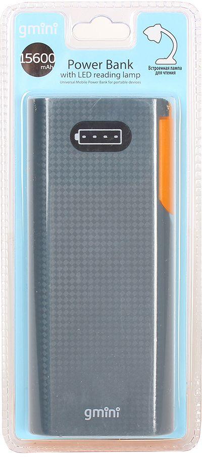 Gmini mPower GM-PB156L внешний аккумулятор (15600 мАч) + встроенная LED-лампаGM-PB156LGmini mPower GM-PB052L - настоящая находка для владельцев смартфонов. Аккумулятор такой маленький и тонкий, что вы просто не почувствуете его в вашем кармане или сумке. Емкости батареи должно хватить на 5 циклов заряда среднестатистического смартфона. По сравнению с обычными литий-ионными, литий-полимерные батареи тоньше, легче и меньше теряют заряд. Наслаждайтесь преимуществами новых технологий!