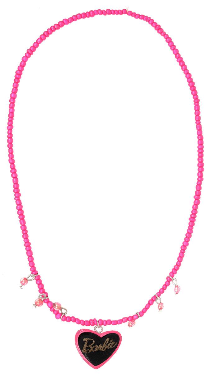 Колье для девочки Barbie, цвет: серебристый, розовый. 0902096509020965Оригинальное колье Barbie станет изюминкой образа юной леди. Изделие изготовлено из гипоаллергенных материалов, не имеет заостренных деталей и абсолютно безопасно для ребенка. В комплекте идут два колье. Колье выполнены из пластиковых бусин, собранных на эластичной резинке. Одно из изделий декорировано подвеской в виде сердечка с символикой бренда. Рекомендуемый возраст: от 3х лет.