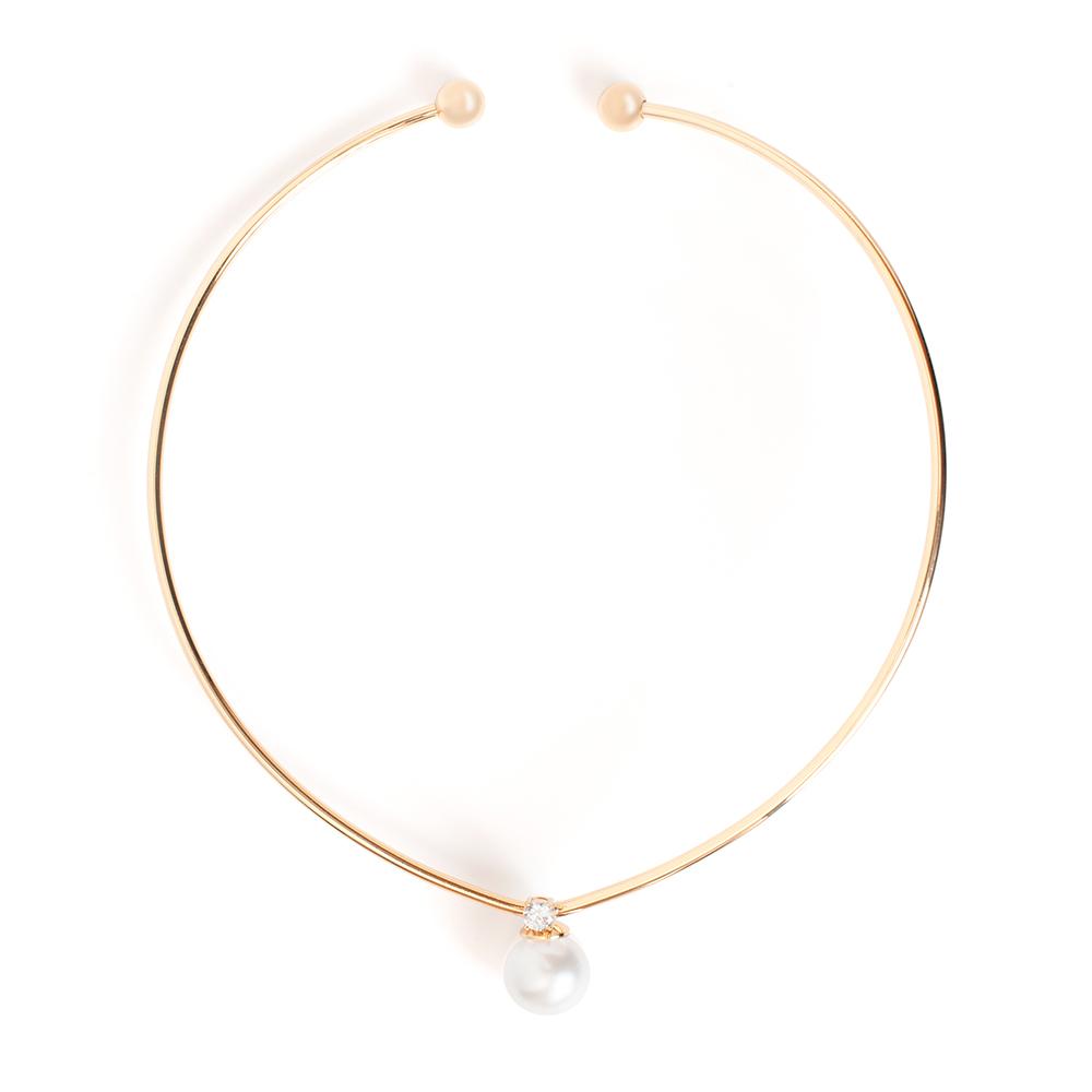 Колье Selena, цвет: белый, золотистый. 1010330110103301