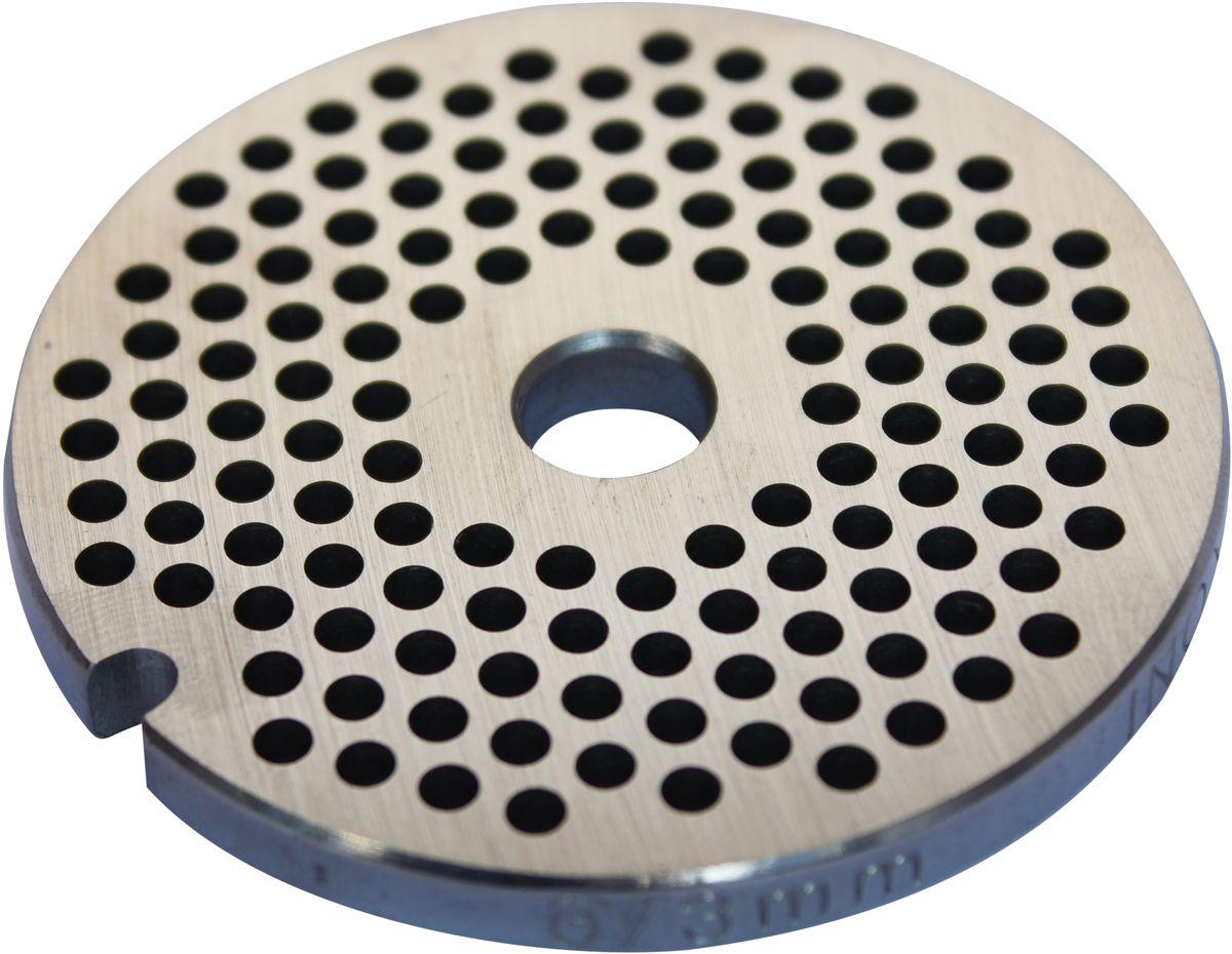 Euro Kitchen EUR-GR-3 Moulinex HV2 решетка для мясорубкиEUR-GR-3 Moulinex HV2Решетка Euro Kitchen EUR-GR-3 предназначена для работы с электрическими мясорубками марки Moulinex HV2. Она с легкостью заменит фирменную деталь, не уступив ей по качеству и сроку службы. Высокая производительность и долгий срок службы современных электрических и ручных мясорубок зависят, в первую очередь, от режущих механизмов и их выработки. Своевременная профилактика и замена режущих и вспомогательных элементов способствуют уменьшению нагрузки на узлы и другие механизмы, гарантируя долгую и качественную работу вашей мясорубки. Диаметр отверстий в решетке: 3 мм