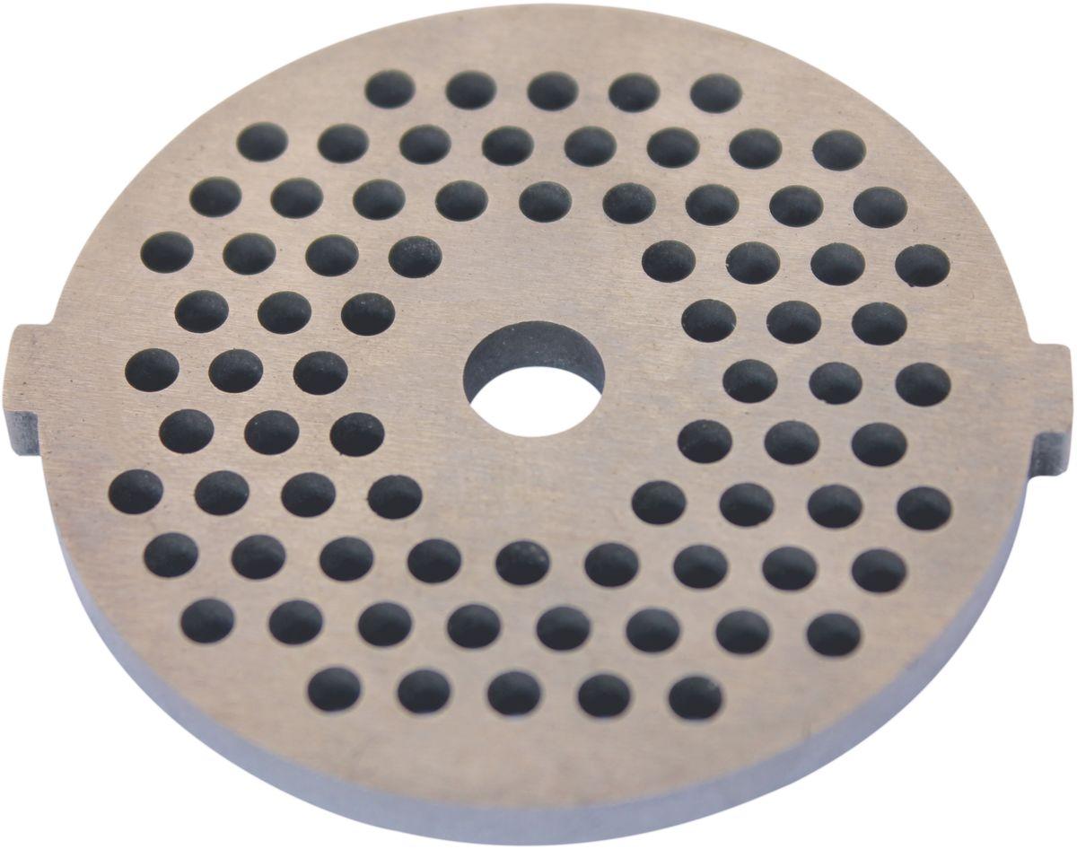 Euro Kitchen EUR-GR-3 Panasonic решетка для мясорубкиEUR-GR-3 PanasonicРешетка Euro Kitchen EUR-GR-3 предназначена для работы с электрическими мясорубками марки Panasonic. Она с легкостью заменит фирменную деталь, не уступив ей по качеству и сроку службы. Высокая производительность и долгий срок службы современных электрических и ручных мясорубок зависят, в первую очередь, от режущих механизмов и их выработки. Своевременная профилактика и замена режущих и вспомогательных элементов способствуют уменьшению нагрузки на узлы и другие механизмы, гарантируя долгую и качественную работу вашей мясорубки. Диаметр отверстий в решетке: 3 мм