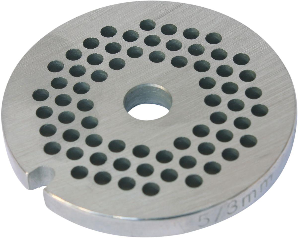 Euro Kitchen EUR-GR-3 Philips решетка для мясорубкиEUR-GR-3 PhilipsРешетка Euro Kitchen EUR-GR-3 предназначена для работы с электрическими мясорубками марки Philips. Она с легкостью заменит фирменную деталь, не уступив ей по качеству и сроку службы. Высокая производительность и долгий срок службы современных электрических и ручных мясорубок зависят, в первую очередь, от режущих механизмов и их выработки. Своевременная профилактика и замена режущих и вспомогательных элементов способствуют уменьшению нагрузки на узлы и другие механизмы, гарантируя долгую и качественную работу вашей мясорубки. Диаметр отверстий в решетке: 3 мм