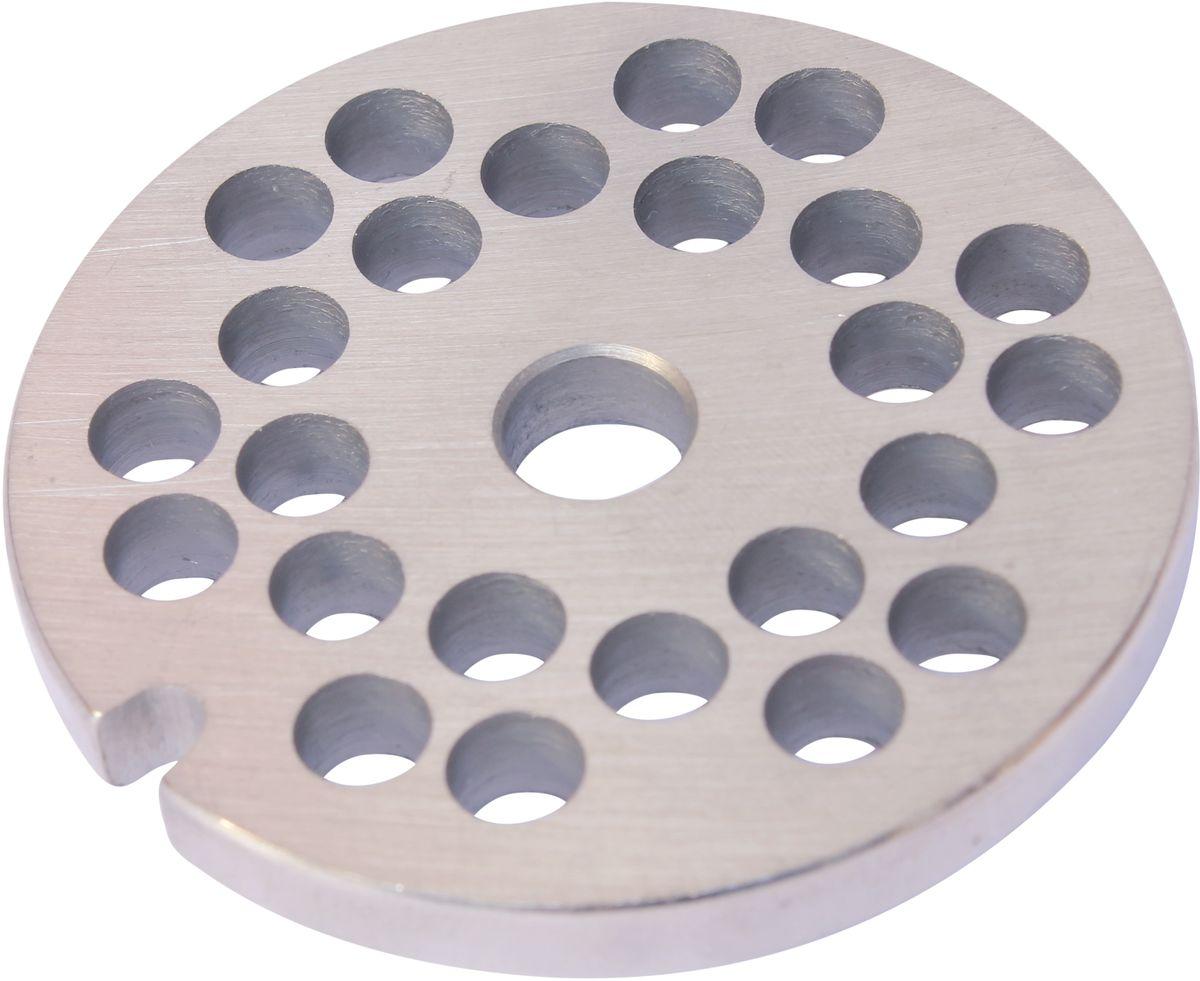 Euro Kitchen EUR-GR-6 Philips решетка для мясорубкиEUR-GR-6 PhilipsРешетка Euro Kitchen EUR-GR-6 предназначена для работы с электрическими мясорубками марки Philips. Она с легкостью заменит фирменную деталь, не уступив ей по качеству и сроку службы. Высокая производительность и долгий срок службы современных электрических и ручных мясорубок зависят, в первую очередь, от режущих механизмов и их выработки. Своевременная профилактика и замена режущих и вспомогательных элементов способствуют уменьшению нагрузки на узлы и другие механизмы, гарантируя долгую и качественную работу вашей мясорубки. Диаметр отверстий в решетке: 6 мм