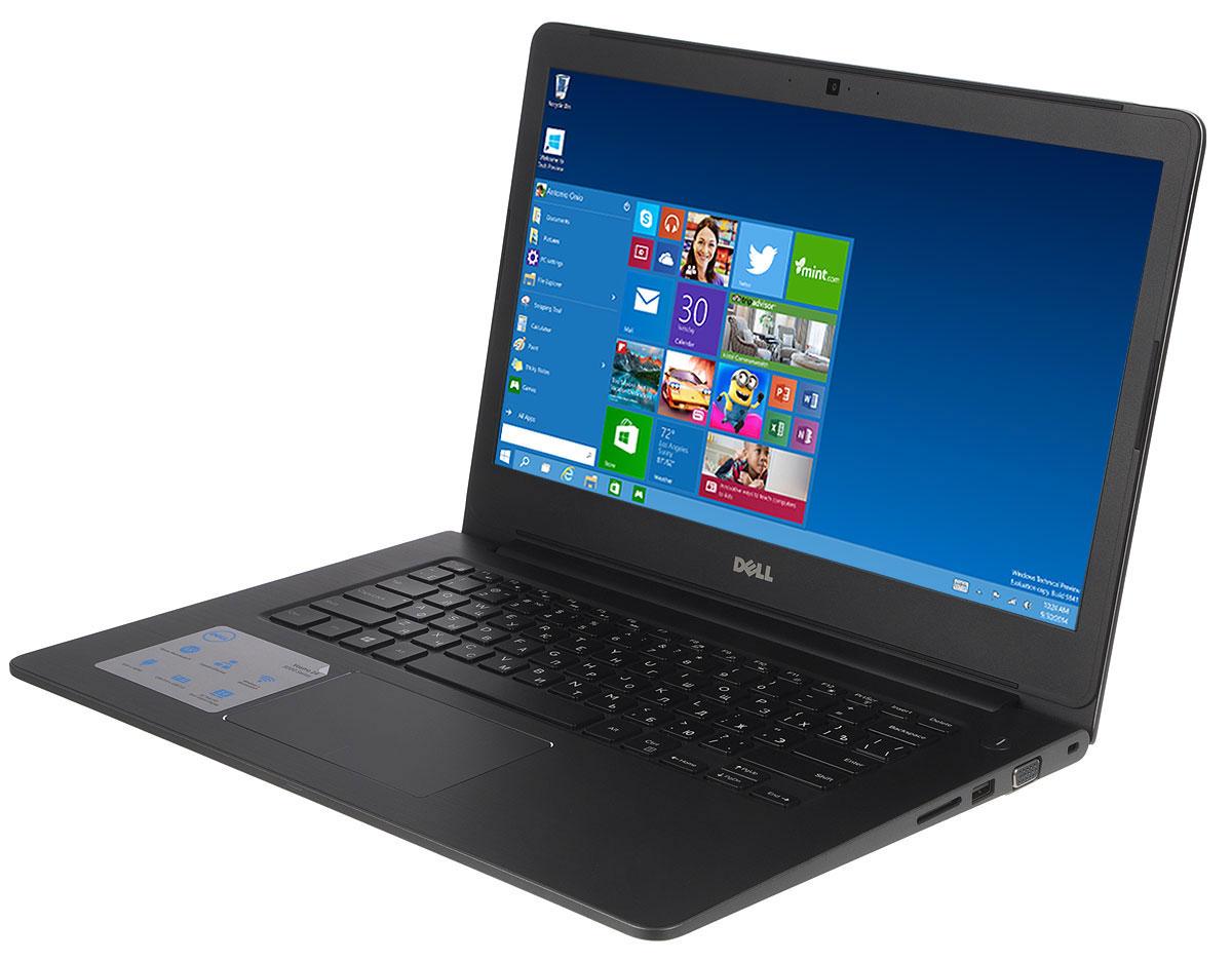 Dell Vostro 5468-9937, Grey5468-993714-дюймовый ноутбук Dell Vostro 5468 с процессором Intel Core i5 позволит вам в любое время сразу приступить к работе. Этот супертонкий ноутбук не только невероятно прочный, но и обладает стильным внешним видом. Красота Vostro 5468 - в деталях. Если вас завалило электронной почтой, высококачественная полноразмерная резиновая клавиатура и мультисенсорная панель с распознаванием жестов помогут вам легко и быстро ответить на любое письмо. Тонкий и легкий. Толщина устройства - всего 18,3 мм, а вес составляет всего лишь 1,53 кг. Компактный и изящный ноутбук Vostro 5468 можно легко положить в сумку и взять с собой куда угодно. Стереосистема формата 2.1 с поддержкой Waves MaxxAudio обеспечивает высокую четкость звука при воспроизведении музыки, просмотре видео и участии в конференциях. Vostro 5468 поддерживает аудиорешения Waves MaxxAudio, которые повышают качество звучания двух встроенных динамиков и сабвуфера. Легкость общения....