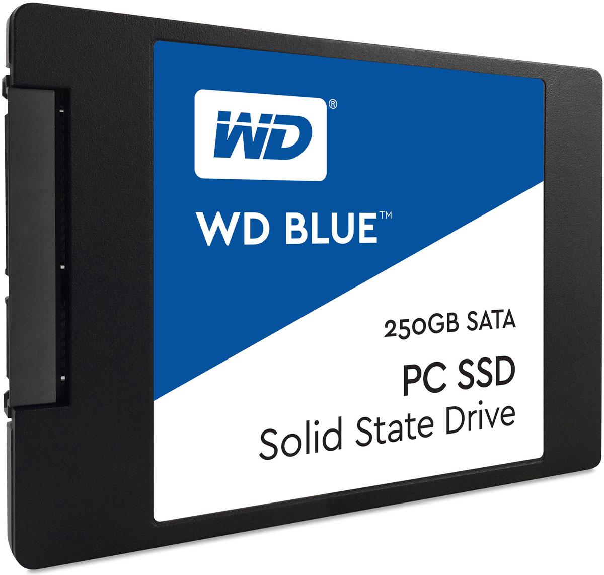WD Blue 250GB SSD-накопитель (WDS250G1B0A)WDS250G1B0AТвердотельный накопитель WD Blue отличается высоким быстродействием и обеспечивает эффективное хранение данных наряду с высокой скоростью передачи и ведущей в отрасли надежностью. Оптимизированные для параллельного выполнения нескольких задач твердотельные накопители WD Blue позволяют с легкостью запускать несколько ресурсоемких приложений одновременно. Твердотельные накопители WD Blue доступны в формфакторах 2,5 дюйма (7 мм) и M.2 2280 для самых тонких и компактных компьютеров, что позволяет комплектовать ими большинство ноутбуков и настольных ПК. Доступная для скачивания панель мониторинга твердотельных накопителей WD содержит набор инструментов, с помощью которых можно в любой момент проверить работоспособность твердотельного накопителя. Благодаря сертификации WD F.I.T. Lab на совместимость с широким спектром ноутбуков и настольных ПК вы можете быть полностью уверены, что накопитель WD Blue подходит вам идеально. На каждый твердотельный...