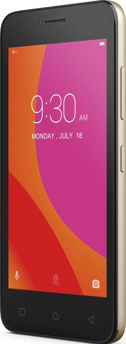 Lenovo B (A2016a40), GoldPA4R0152RUВпусти в свою жизнь Lenovo B - компактный, доступный и высокопроизводительный смартфон. Почувствуй мощность четырехъядерного процессора; путешествуй по сети, играй в любимые игры и смотри потоковое видео на скорости 4G. Этому смартфону под силу любые задачи. Благодаря весу всего 144 грамма, скругленным углам корпуса и текстурированной задней панели это устройство приятно держать в руке, и оно отлично поместится в карман. Компактный смартфон оборудован 4,5- дюймовым сенсорным экраном, на котором удобно пролистывать страницы в дороге, а также играть и смотреть фильмы. Уровень производительности имеет значение, даже если ты просматриваешь веб-страницы или делишься фото с друзьями. Благодаря высокоскоростному 64-разрядному четырехъядерному процессору с частотой 1,0 ГГц Lenovo B обеспечивает оптимальное сочетание производительности и мощности, даже в условиях одновременной работы сразу с несколькими приложениями. Обнови статус в социальных...