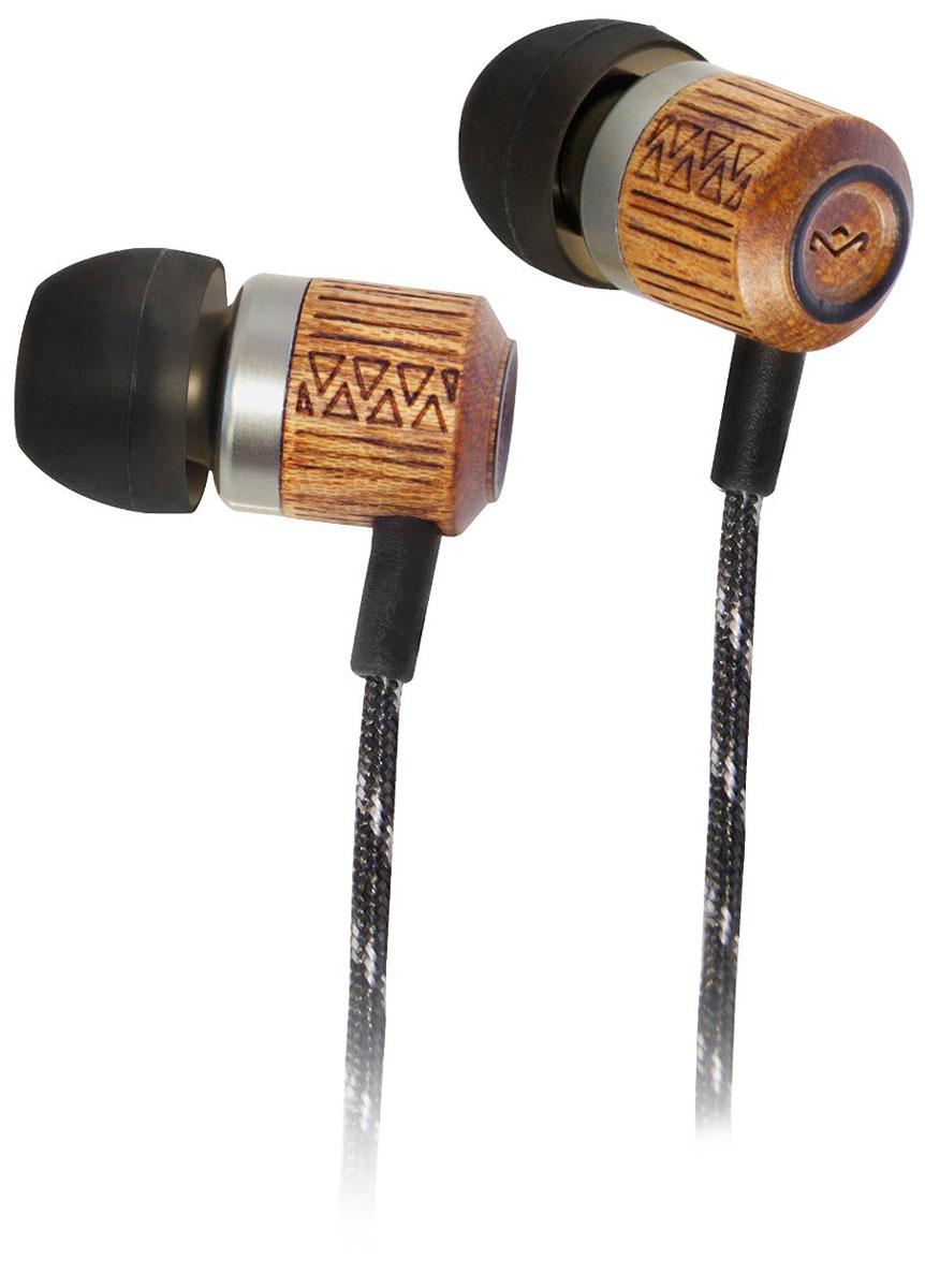 House of Marley Chant Midnight, Black наушникиEM-JE051-MIКорпус наушников House of Marley Chant выполнен из бамбука, сертифицированного FSC. Это уникальное сочетание алюминия и натурального дерева с лазерной орнаментной гравировкой. Фирменный звук от Marley, отличная шумоизоляция позволяют насладиться полноценным живым звучанием. Тканевая оплетка повышает надежность кабеля, помогает избежать спутывания и снижает микрофонный шум.