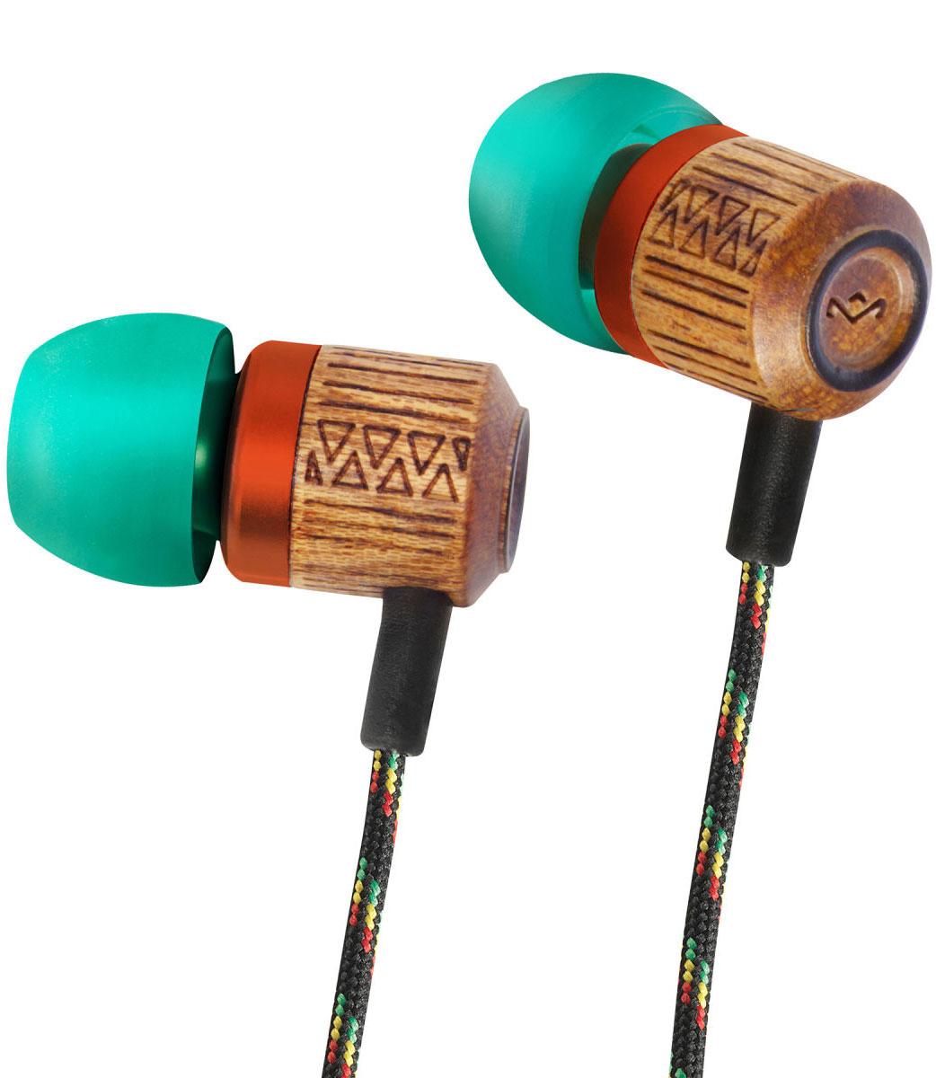 House of Marley Chant Rasta, Green наушникиEM-JE051-RAКорпус наушников House of Marley Chant выполнен из бамбука, сертифицированного FSC. Это уникальное сочетание алюминия и натурального дерева с лазерной орнаментной гравировкой. Фирменный звук от Marley, отличная шумоизоляция позволяют насладиться полноценным живым звучанием. Тканевая оплетка повышает надежность кабеля, помогает избежать спутывания и снижает микрофонный шум.