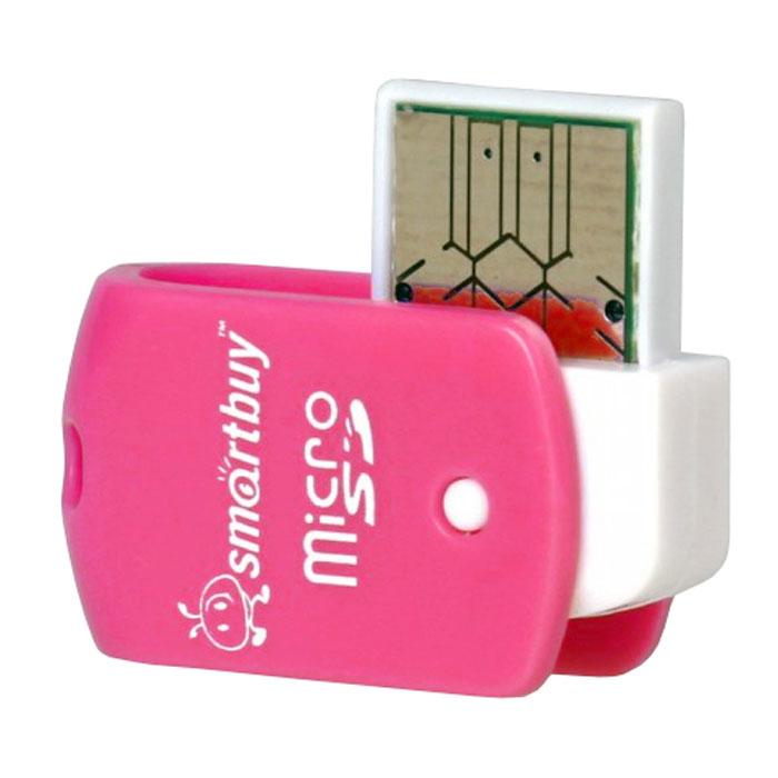 Smartbuy SBR-706-P, Pink картридерSBR-706-PSmartBuy SBR-706 - это картридер для чтения и записи данных на поддерживаемые карты памяти. Устройство дает возможность быстро переносить в память компьютера или записывать на карточку такие объемные данные, как фотографии, музыкальные записи, видеоролики. Модель подключается к USB порту и совместно с картой памяти может использоваться как внешнее хранилище.