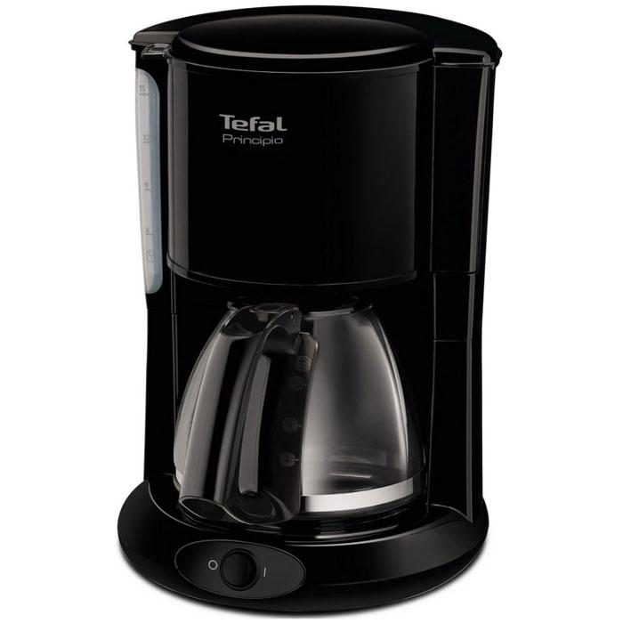 Tefal CM261838 кофеваркаCM261838Если вы любите пить горячий свежесваренный кофе, то вам непременно стоит обратить внимание на современную кофеварку Tefal CM261838. Этот прибор обладает мощностью в 1000 Вт, что позволяет ему в считанные мгновения приготовить превосходный кофе. Наслаждайтесь непревзойденным вкусом своего любимого напитка ежедневно! Простое управление управление капельной кофеваркой Tefal не доставит никаких трудностей. Готовый кофе поступает в специальную емкость, объем которого достигает 1,25 литра. Поэтому кофеварку можно использовать даже в большой семье. Tefal CM261838 отличается невероятной легкостью в обслуживании. Она оснащена специальной противокапельной системой, поэтому рабочая поверхность или скатерть на столе всегда будут чистыми. Кроме того, этот прибор обладает наглядным индикатором уровня воды, что позволяет вам контролировать работу прибора. Благодаря своим компактным размерам и черному цвету корпуса, изготовленного из качественных...