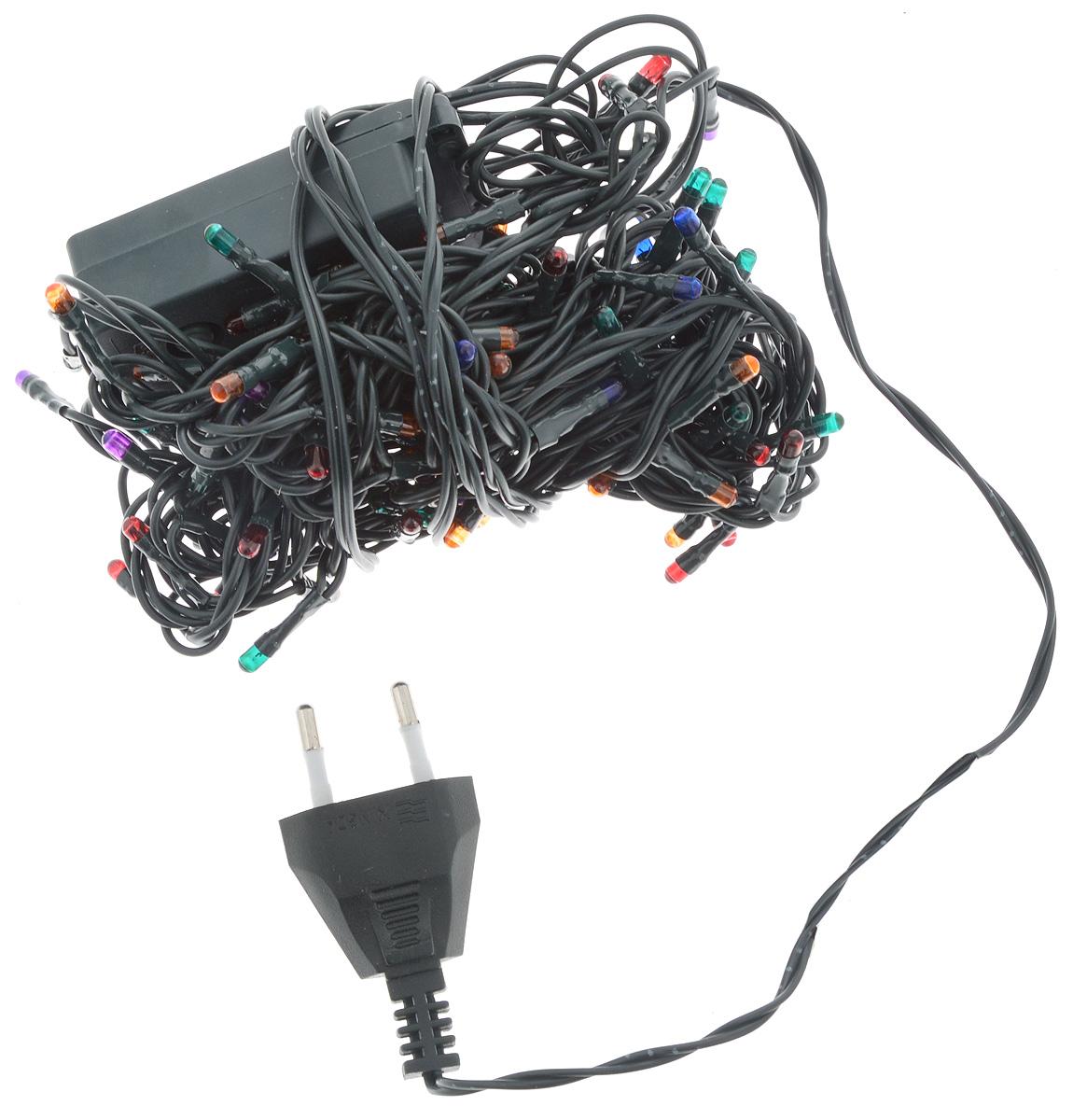 Гирлянда электрическая Winter Wings, с контроллером, 100 ламп, длина 6 мN11018Новогодняя электрическая гирлянда Winter Wings предназначена для украшения интерьеров. Изделие состоит из 100 разноцветных ламп. Гирлянда содержит незаменяемые лампы повышенного срока службы. Если одна лампа выходит из строя, остальные будут гореть. Оригинальный дизайн и красочное исполнение создадут праздничное настроение. Откройте для себя удивительный мир сказок и грез. Почувствуйте волшебные минуты ожидания праздника, создайте новогоднее настроение вашим дорогим и близким. Напряжение: 220 V. Частота: 50 Hz. Мощность: 65 Вт. Цвет кабеля: зеленый. Общая длина: 6 м. Длина провода от последней лампочки до вилки: 1,5 м. Цвет ламп: разноцветные. Количество ламп: 100. Количество режимов мигания: 8. Используются лампы: Напряжение: 9 В. Мощность: 0,63 Вт.