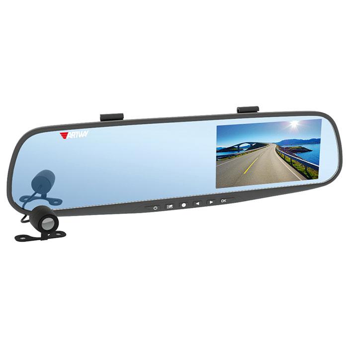 Artway AV-600, Black видеорегистратор-зеркало4620019033323Видеорегистратор в зеркале заднего вида Artway AV-600 позволяет сделать устройство незаметным в салоне автомобиля, а также реализовать дополнительные функции. А выносная камера может быть использована как парковочная. В результате водитель получает многофункциональное устройство, объединяющее в себе видеорегистратор с двумя камерами, помощник для парковки и усовершенствованное зеркало заднего вида. Большой и яркий дисплей диагональю 4,3 с высоким разрешением позволит вам с комфортом просмотреть отснятые видеоролики на самом видеорегистраторе, разглядеть все детали или c удобством управлять настройкой видеорегистратора. Водонепроницаемая камера не боится дождя, снега и слякоти, поэтому может быть установлена с внешней стороны автомобиля, например, под номерным знаком: камера не испортится и не сломается. Умный процессор видеорегистратора запишет видеофайлы с передней и с выносной водонепроницаемой камеры заднего вида в разные...