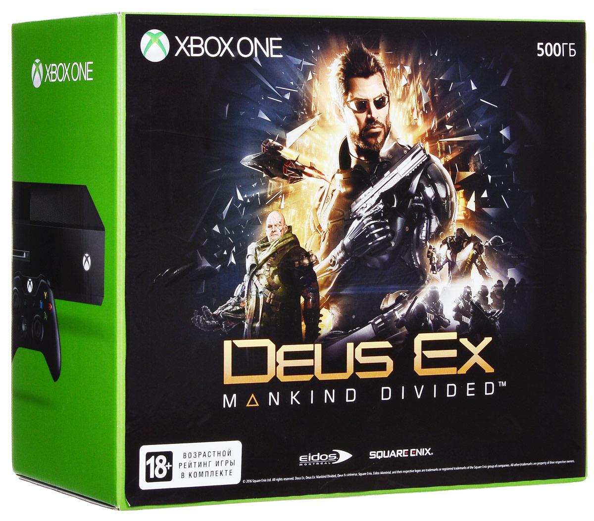 Игровая приставка Xbox One 500 ГБ + Deus Ex: Mankind Divided