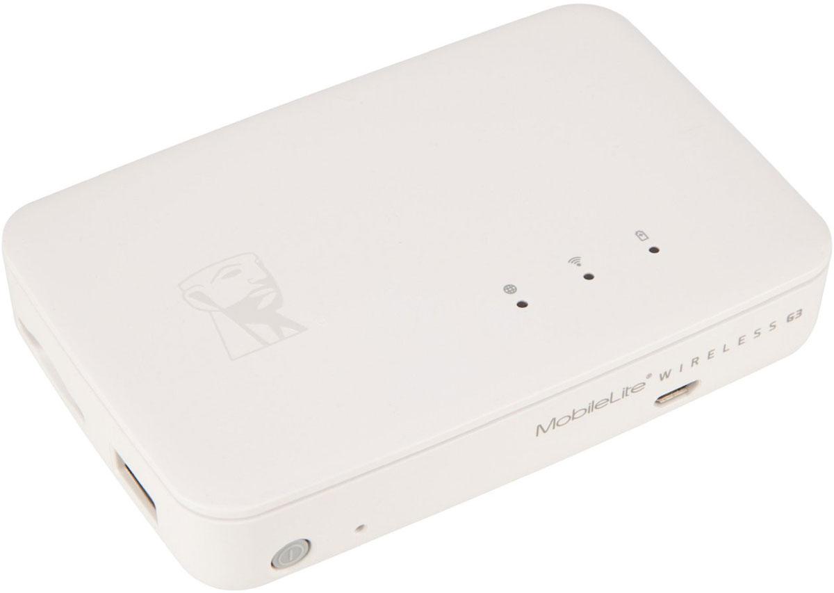 Kingston MobileLite Wireless G3 картридер с аккумуляторомMLWG3MobileLite Wireless G3 компании Kingston позволяет быстрее заряжать смартфоны и планшеты, благодаря максимальному току зарядки 2 А - от одного полностью заряженного устройства Kingston MobileLite Wireless G3 можно дважды зарядить один телефон. Устройство имеет аккумулятор на 5400 мАч и позволяет получать беспроводной доступ ко всему содержимому USB-накопителя или карты памяти SD. Накопитель имеет высококачественный аккумуляторный элемент производства Японии, что делает аккумулятор более надежным и долговечным, чем конкурентные устройства. Получите беспроводной доступ к USB-накопителям и картам памяти SD через смартфоны и планшеты, чтобы освободить место для хранения данных, делайте резервные копии важных фотографий, видео, контактов и календарных заметок, а также копируйте файлы в новый телефон или планшет без использования ПК. Экономьте за счет отказа от платных облачных сервисов резервного копирования. Kingston MobileLite Wireless G3 имеет разъем для...