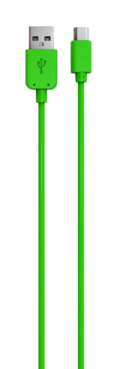 Red Line кабель USB-microUSB, Green (1 м)УТ000009491Дата-кабель Red Line позволяет подключить планшет, смартфон, электронную читалку и прочие мобильные устройства с разъемом microUSB к порту USB на компьютере для синхронизации и зарядки. Кроме того, его можно подключить к адаптеру питания USB, чтобы зарядить устройство от розетки.