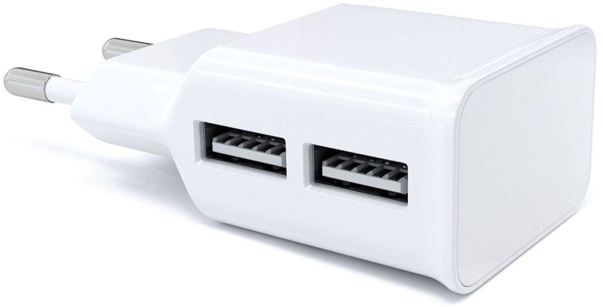 Red Line NT-2A, White сетевое зарядное устройствоУТ000009405Устройство Red Line NT-2A предназначено для зарядки и питания мобильного устройства от бытовой сети переменного тока. Подходит для розеток европейского стандарта, тем самым устройство можно подключить к большинству розеток. Вы можете заряжать любые устройства, совместимые с выходным током зарядки до 2,1А и напряжением 5В.