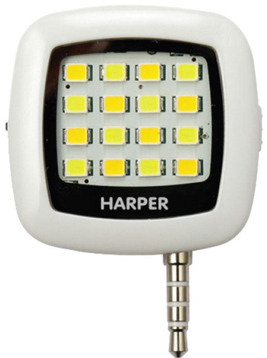 Harper SFL-001, White LED-фонарь для смартфоновH00000543Внешняя светодиодная вспышка для смартфонов и планшетов Harper SFL-001 совместима с любыми портативными устройствами, работающими на базе операционных систем Android или iOS. Полезно устройство будет не только владельцам гаджетов, не оснащенных встроенной вспышкой, но и тем, кому недостаточно потока света, создаваемого штатным светодиодом. Для синхронизации работы вспышки с вашим смартфоном (планшетом) необходимо вставить Harper SFL-001 в разъем для наушников 3,5 мм и установить приложение iblazr, которое позволит идеально синхронизировать горение светодиода с моментом съемки фотокамеры. Больше не будет никаких красных глаз на фото! Емкости аккумулятора в 200 мАч хватает почти на 500 снимков. Использовать Harper SFL-001 можно как с основной камерой, так и с фронтальной. Как для фотосъемки, так и для видеосъемки. Работает Harper SFL-001 не только как вспышка, но и как обычный светодиодный фонарь. Благодаря своим компактным размерам...