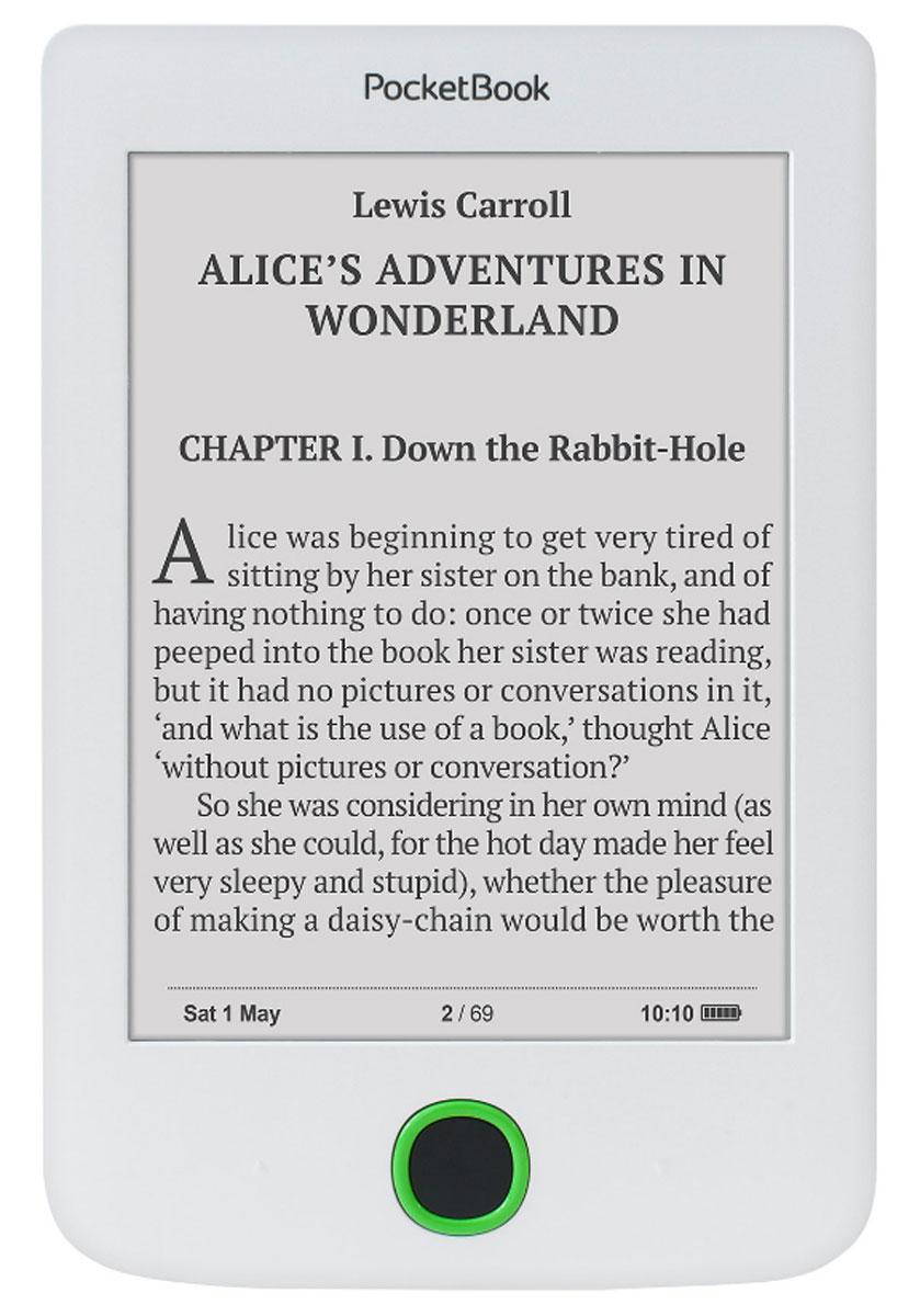 PocketBook 614 Limited Edition, White электронная книгаPB614-D-RU-LEПростой и удобный в использовании электронный ридер PocketBook 614. Это электронное устройство станет прекрасным подарком даже для тех, кто до сих пор считает, что бумажную книгу читать проще. Ридер содержит все необходимые для комфортного электронного чтения функции. Благодаря интуитивно понятному интерфейсу управлять PocketBook 614 невероятно просто. 6-дюймовый Е-Ink Pearl экран PocketBook 614 не бликует на солнце и использует только отраженный свет, что позволяет читать даже в самый погожий день. Мощный процессор с тактовой частотой 1 ГГц и 256 МБ оперативной памяти обеспечат еще более плавное перелистывание и прекрасный отклик любого приложения. Одного заряда батареи PocketBook 614 хватает на практически месяц активного чтения. 4 Гб встроенной памяти с возможностью расширения до 32 ГБ - целая библиотека, которая всегда под рукой.