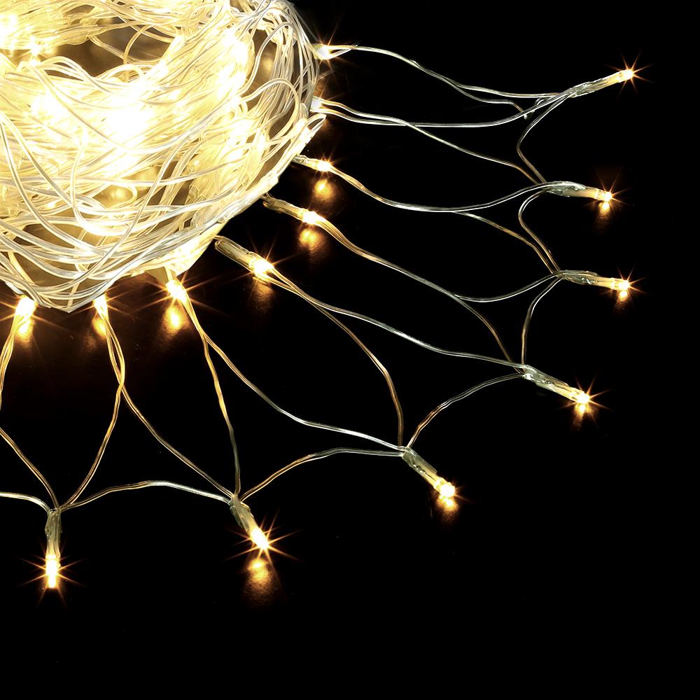 Гирлянда электрическая Vegas Сеть, с контроллером, 176 ламп, длина 1,5 м, свет: теплый. 5507455074Светодиодные гирлянды для домашнего пользования VEGAS Электрогирлянда Сеть 176 теплых LED ламп, контроллер 8 режимов, прозрачный провод, 2*1,5 м, 220 v /20