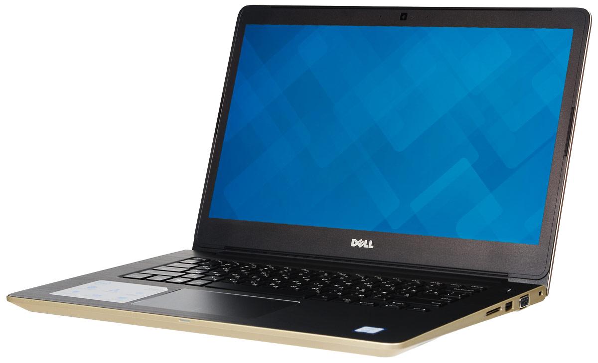 Dell Vostro 5468-2778, Gold5468-277814-дюймовый ноутбук Dell Vostro 5468 с процессором Intel Core i3 позволит вам в любое время сразу приступить к работе. Этот супертонкий ноутбук не только невероятно прочный, но и обладает стильным внешним видом. Красота Vostro 5468 - в деталях. Если вас завалило электронной почтой, высококачественная полноразмерная резиновая клавиатура и мультисенсорная панель с распознаванием жестов помогут вам легко и быстро ответить на любое письмо. Тонкий и легкий. Толщина устройства - всего 18,3 мм, а вес составляет всего лишь 1,53 кг. Компактный и изящный ноутбук Vostro 5468 можно легко положить в сумку и взять с собой куда угодно. Стереосистема формата 2.1 с поддержкой Waves MaxxAudio обеспечивает высокую четкость звука при воспроизведении музыки, просмотре видео и участии в конференциях. Vostro 5468 поддерживает аудиорешения Waves MaxxAudio, которые повышают качество звучания двух встроенных динамиков и сабвуфера. Легкость общения. Общайтесь с...