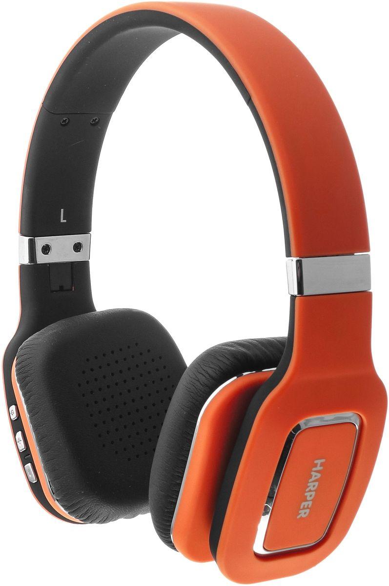 Harper HB-402, Orange наушники00-00000583Harper HB-402 представляют собой беспроводные накладные наушники. Они могут подключаться как по каналу Bluetooth, так и по проводному каналу (в комплекте поставляется AUX-кабель с разъемами 3,5 мм mini-jack). Harper HB-402 совместимы с большинством современных смартфонов, ноутбуков, также другой цифровой техникой, использующей для передачи звука протокол Bluetooth версии 4.0. Радиус уверенного приема сигнала – 10 метров. Встроенного аккумулятора хватит на 10-12 часов прослушивания музыки. В режиме ожидания наушники проработают до 100 часов. Полная зарядка происходит за 3-4 часа (при достаточном токе). Наушники Harper HB-402 оснащены встроенным микрофоном и могут использоваться как беспроводная телефонная гарнитура (опция «Hands- Free»). Три кнопки позволяют: принимать, отклонять или завершать вызов, набирать последний исходящий номер, переключать треки вперед, назад, увеличивать или уменьшать уровень громкости.