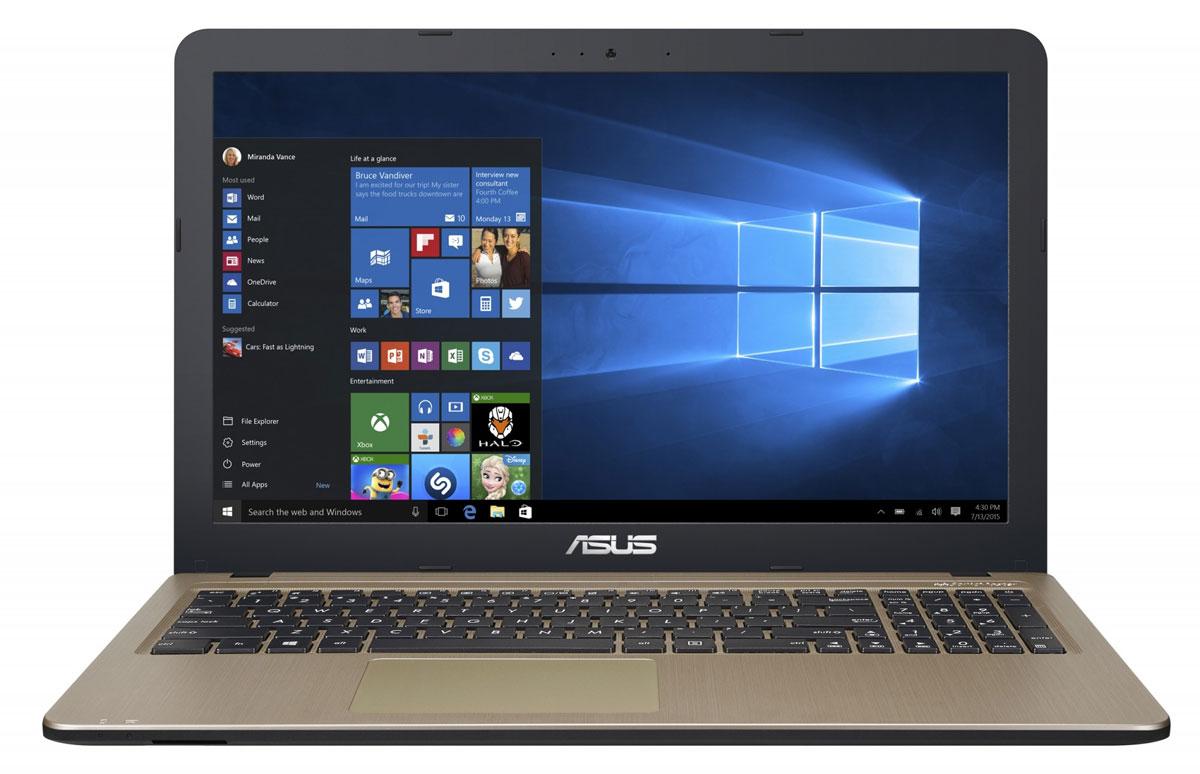 ASUS R540SA (R540SA-XX036T)R540SA-XX036TAsus R540SA - это современный ноутбук для ежедневного использования как дома, так и в офисе. Для быстрого обмена данными с периферийными устройствами Asus R540SA предлагает высокоскоростной порт USB 3.1 (5 Гбит/с), выполненный в виде обратимого разъема Type-C. Его дополняют традиционные разъемы USB 2.0 и USB 3.0. В число доступных интерфейсов также входят HDMI и VGA, которые служат для подключения внешних мониторов или телевизоров, и разъем проводной сети RJ-45. Кроме того, у данной модели имеются оптический привод и кард-ридер формата SD/SDHC/SDXC. Благодаря эксклюзивной аудиотехнологии SonicMaster встроенная аудиосистема ноутбука Asus R540SA может похвастать мощным басом, широким динамическим диапазоном и точным позиционированием звуков в пространстве. Кроме того, ее звучание можно гибко настроить в зависимости от предпочтений пользователя и окружающей обстановки. Ноутбук R540SA выполнен в прочном, но легком корпусе весом всего 1,72 кг,...