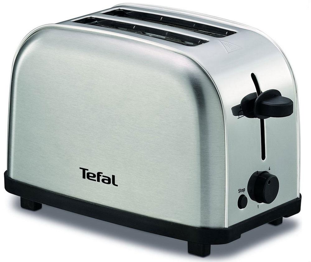 Tefal TT330D30 тостерTT330D30Тостер Tefal TT330D30 представляет собой сочетание удобства, функциональности и элегантного внешнего вида. Его корпус сконструирован таким образом, чтобы не нагреваться при работе. Вы можете регулировать степень поджаривания хлеба (доступно 6 режимов) по вашему вкусу. Кнопка отмена поможет вовремя исправить сделанную спросонья ошибку. Ухаживать за тостером легко и приятно благодаря наличию поддона для крошек.