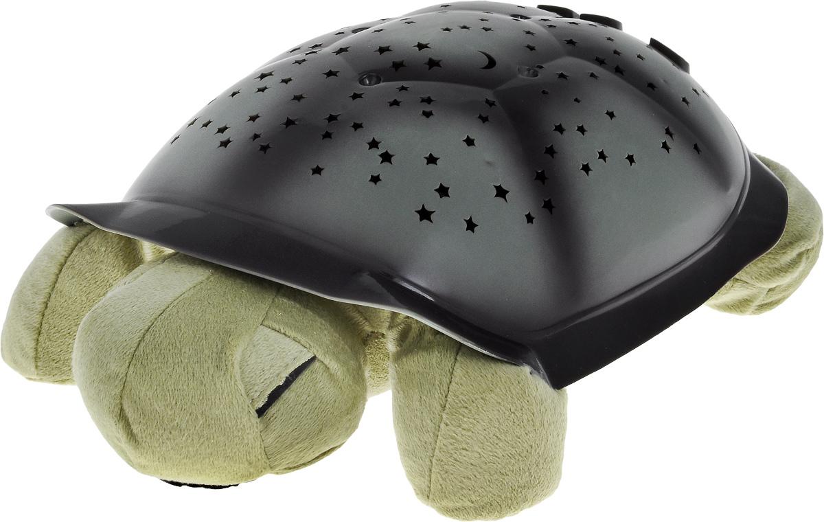 Ночник-проектор Эврика Черепаха, цвет: зеленый94888Ночник-проектор Эврика Черепаха - это оригинальный ночник, который еще и проектирует созвездия в 3 разных тонах. Включив проектор, вы увидите, как на стенах и потолке вашей комнаты появляются удивительные созвездия. Изделие выполнено в виде мягкой игрушки - черепашки, с пластиковым панцирем. Панцирь разделен на 7 различных сегментов, соответствующих семи различным созвездиям: Орион, Дракон, Малая Медведица, Созвездие Большого Пса, Пегас, Близнецы, Большая Медведица. Изображение каждого отдельного созвездия имеет соответствующий номер. Это сделано для того, чтобы помочь найти его на панцире черепашки и на потолке. На панцире расположена кнопка включения и выключения светильника, а также кнопки для включения цветов (синий, янтарный, зеленый). Если нажать кнопку L1 2 раза - три цвета будут переливаться по очереди, если нажать 3 раза - включаются все 3 цвета сразу. Мягкое мерцание и неяркий свет помогают детям успокоиться и быстрее...