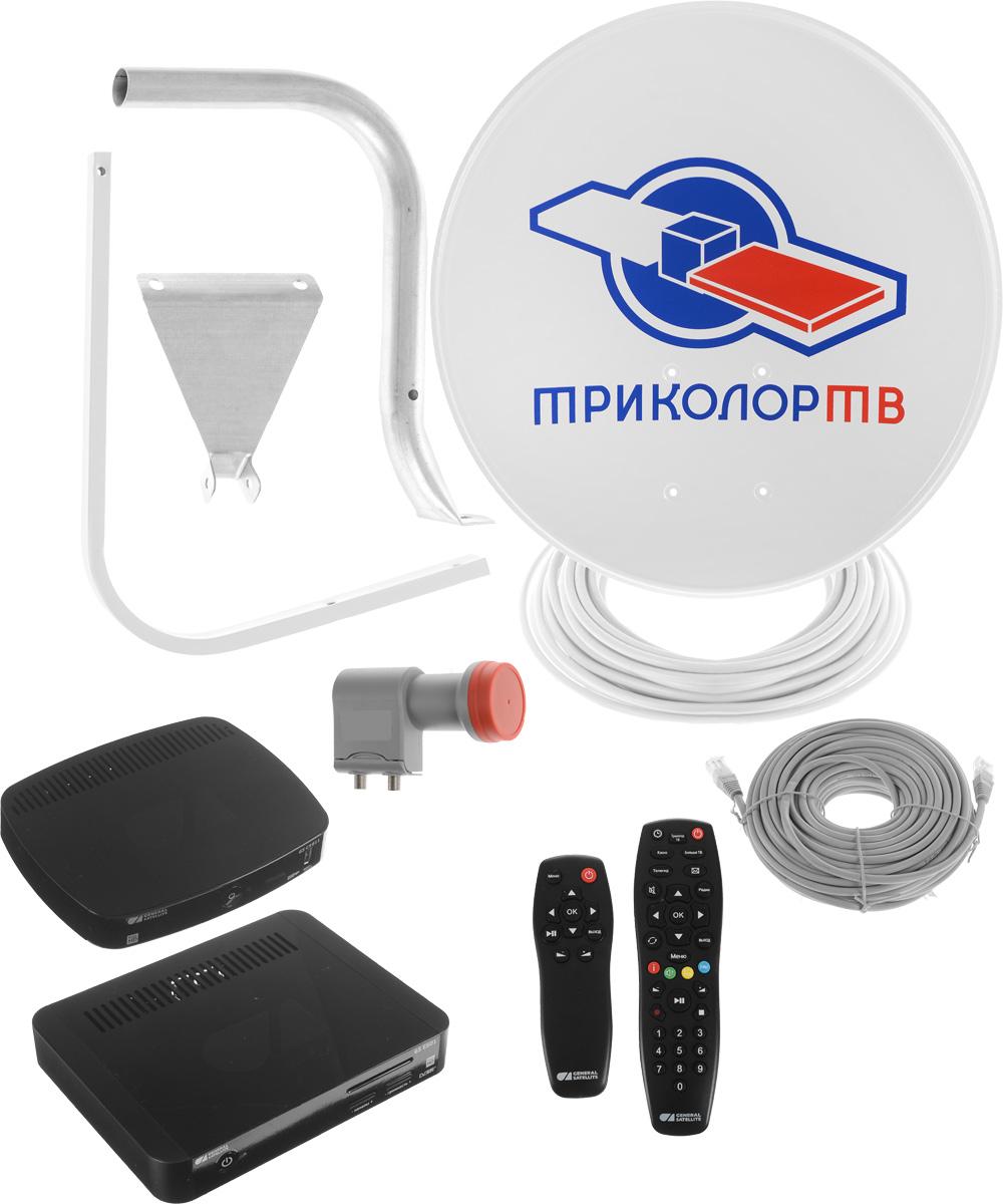Триколор Full HD GS E501 + GS C5911 комплект спутникового телевиденияKTR_E501/C5911Комплект цифрового спутникового телевидения Триколор Full HD предназначен для подключения двух телевизоров. Основной ресивер GS E501 оснащен двумя тюнерами DVB-S2, с помощью которых осуществляется прием спутникового телевидения в диапазоне 950 - 2150 МГц. Дополнительный ресивер GS C5911 подключается по сети Ethernet, поэтому прокладка антенного кабеля не требуется. Таким образом, используя основной и дополнительный приёмники, можно подключить два телевизора, приобретая один комплект спутникового ТВ. Уважаемые клиенты! Обращаем ваше внимание, что с 01.02.2017 г, все комплекты спутникового телевидения Триколор ТВ, будут комплектоваться скретч-картами включающими в себя недельный тариф на просмотр пакета «Единый».