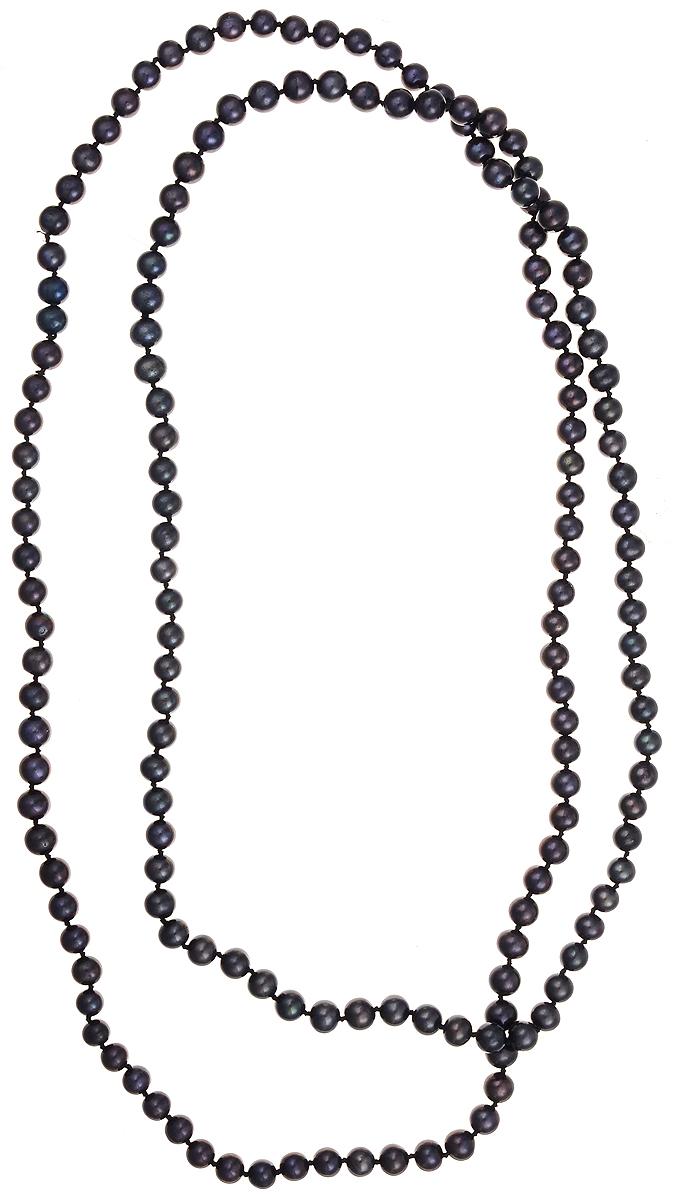 Бусы Art-Silver, цвет: синий, длина 120 см. КЖ7-8АА+120-3788КЖ7-8АА+120-3788Бусы Art-Silver подчеркнут изящество и непревзойденный вкус своей обладательницы. Они выполнены из бижутерного сплава и культивированного жемчуга диаметром 7 мм. Культивированный жемчуг - это практичный аналог природного жемчуга. Бусинки из прессованных раковин помещаются внутрь устрицы и возвращаются в воду. Когда бусины покрываются перламутром, их извлекают из моллюска. Форма жемчужины получается идеально ровной с приятным матовым блеском.