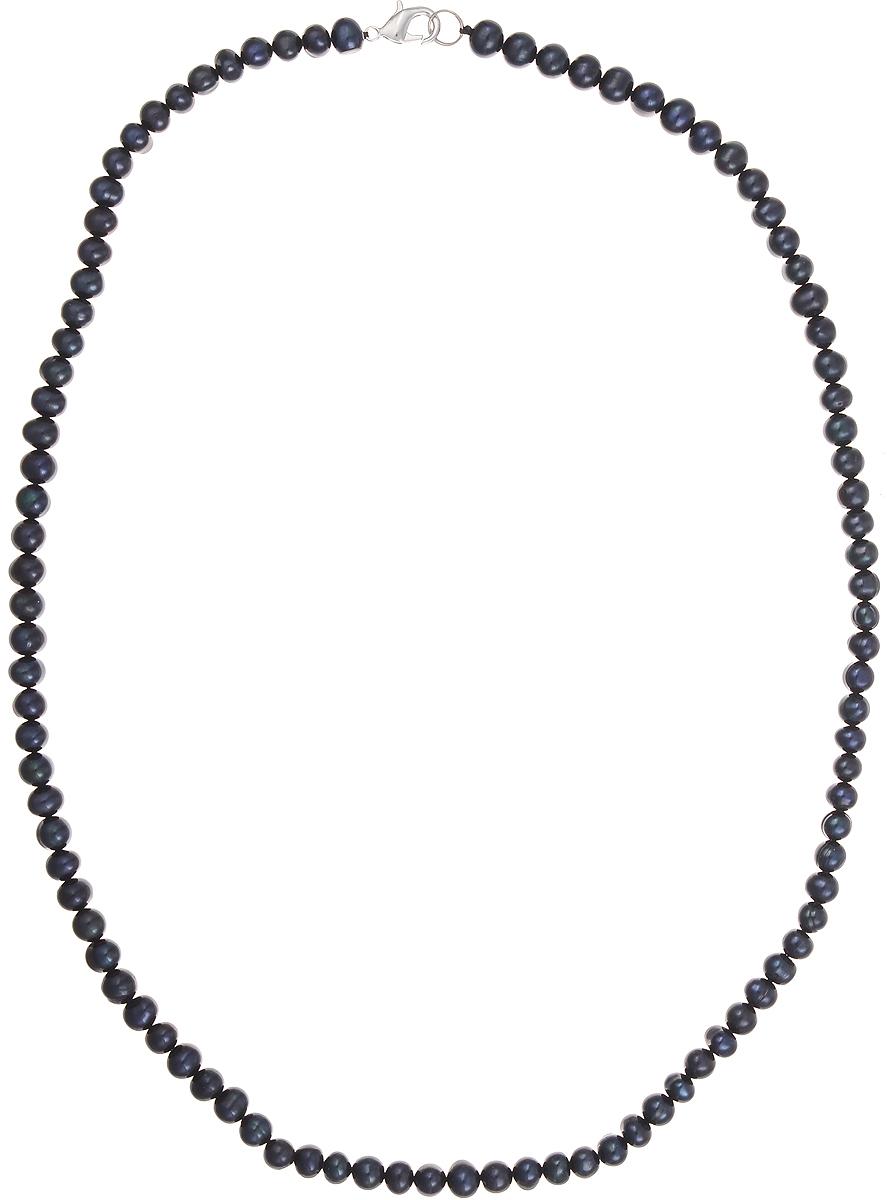 Бусы Art-Silver, цвет: синий, длина 60 см. КЖ7-8АА60-1149КЖ7-8АА60-1149Бусы Art-Silver подчеркнут изящество и непревзойденный вкус своей обладательницы. Они выполнены из бижутерного сплава и культивированного жемчуга диаметром 7 мм. Изделие оснащено удобным замком-карабином. Культивированный жемчуг — это практичный аналог природного жемчуга. Бусинки из прессованных раковин помещаются внутрь устрицы и возвращаются в воду. Когда бусины покрываются перламутром, их извлекают из моллюска. Форма жемчужины получается идеально ровной с приятным матовым блеском.