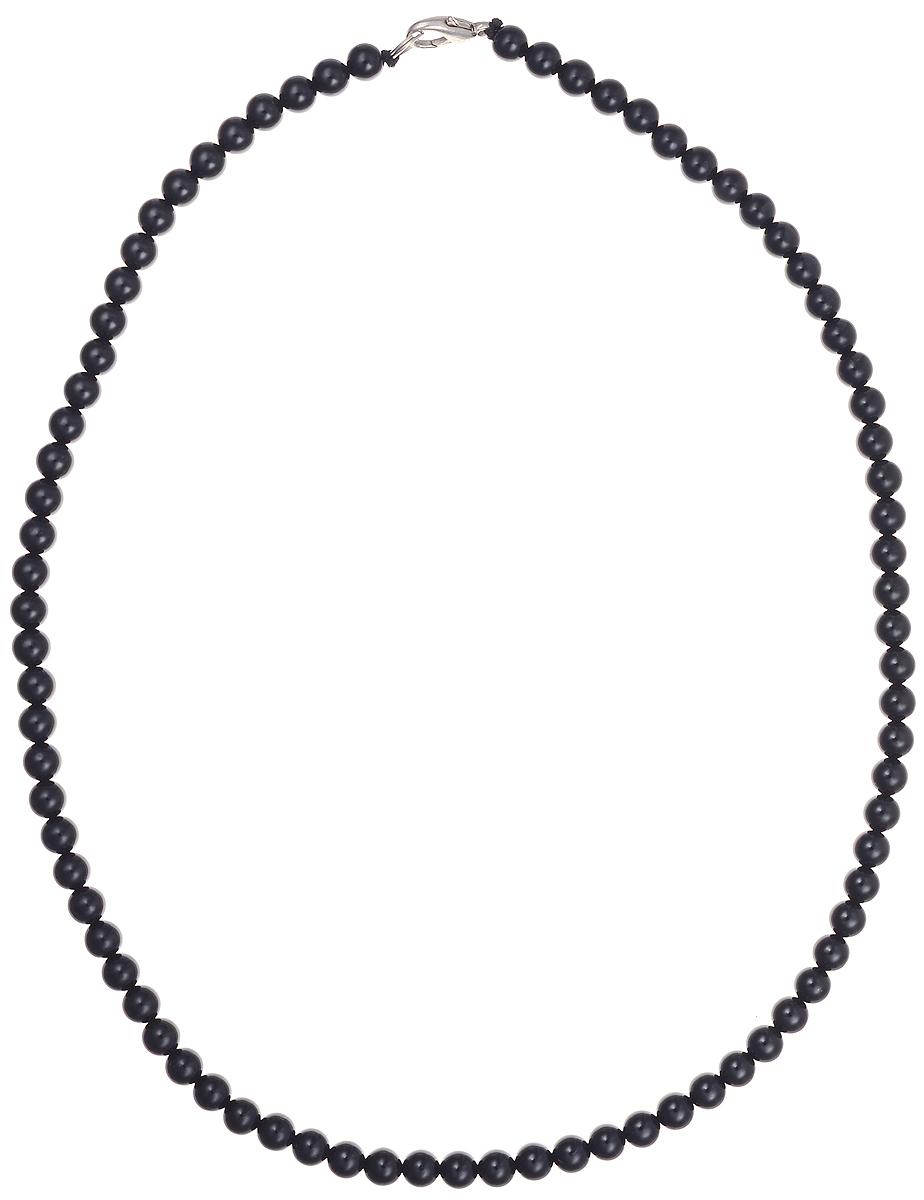Бусы Art-Silver, цвет: черный, длина 50 см. ЧА6-50-158ЧА6-50-158Бусы Art-Silver подчеркнут изящество и непревзойденный вкус своей обладательницы. Они выполнены из бижутерного сплава и агатовых бусин диаметром 6 мм. Изделие оснащено удобным замком-карабином. Агаты отличаются необыкновенным разнообразием окрасок и рисунков, но все они приносят владельцу чувства уверенности, спокойствия, равновесия. Украшения из агата защитят вас от энергетических вампиров и принесут счастье. Бусы из этого благородного камня выглядят как произведение искусства. Такое украшение станет изюминкой вашего образа и добавит лоск и элегантность.