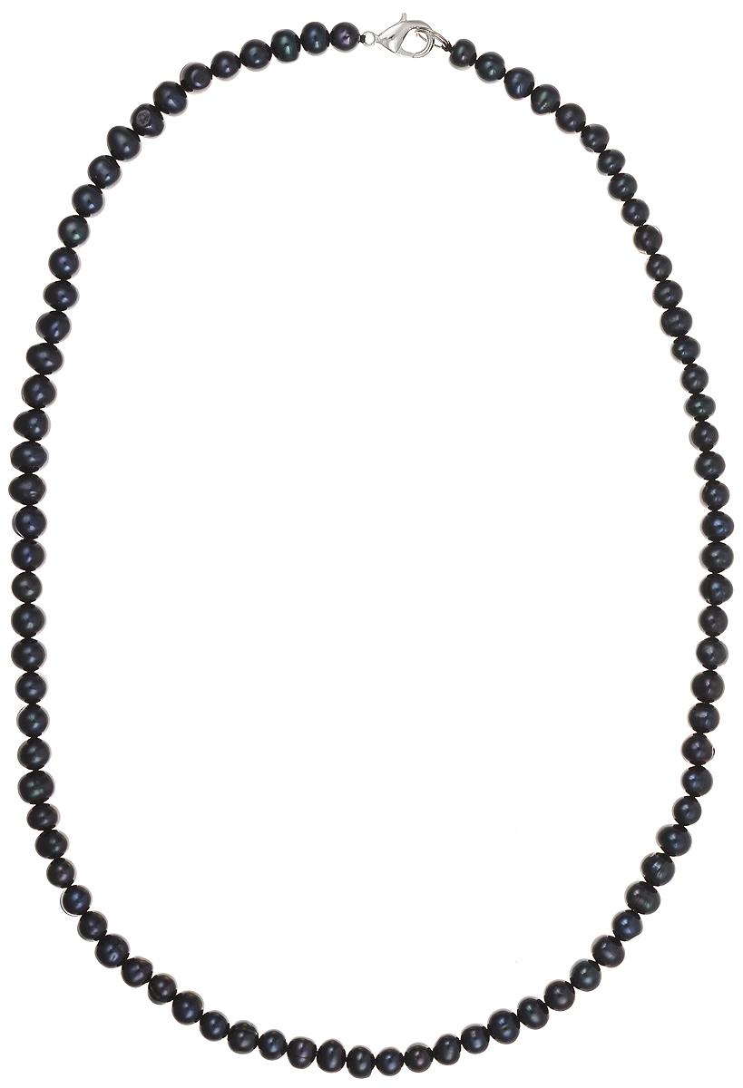 Бусы Art-Silver, цвет: синий, длина 55 см. КЖ7-8АА55-1050КЖ7-8АА55-1050Бусы Art-Silver подчеркнут изящество и непревзойденный вкус своей обладательницы. Они выполнены из бижутерного сплава и культивированного жемчуга диаметром 7 мм. Изделие оснащено удобным замком-карабином. Культивированный жемчуг — это практичный аналог природного жемчуга. Бусинки из прессованных раковин помещаются внутрь устрицы и возвращаются в воду. Когда бусины покрываются перламутром, их извлекают из моллюска. Форма жемчужины получается идеально ровной с приятным матовым блеском.