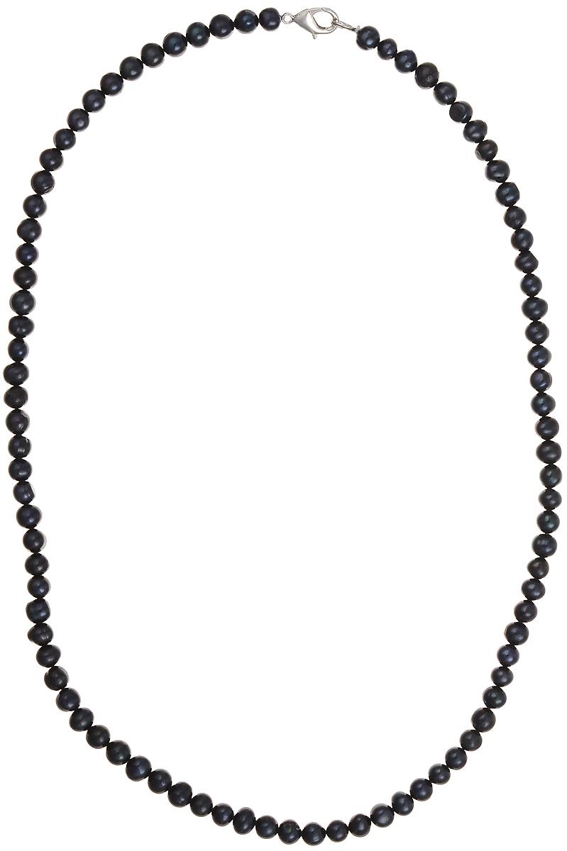 Бусы Art-Silver, цвет: черный, длина 55 см. КЖ6-7АА55-757КЖ6-7АА55-757Бусы Art-Silver подчеркнут изящество и непревзойденный вкус своей обладательницы. Они выполнены из бижутерного сплава и культивированного жемчуга диаметром 6 мм. Изделие оснащено удобным замком-карабином. Культивированный жемчуг — это практичный аналог природного жемчуга. Бусинки из прессованных раковин помещаются внутрь устрицы и возвращаются в воду. Когда бусины покрываются перламутром, их извлекают из моллюска. Форма жемчужины получается идеально ровной с приятным матовым блеском.
