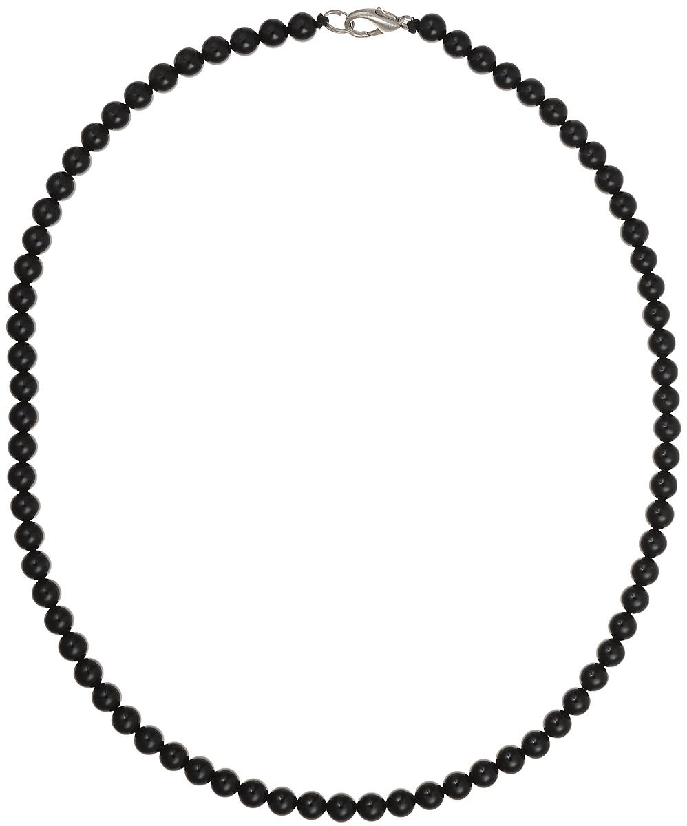 Бусы Art-Silver, цвет: черный, длина 45 см. ЧА6-45-143ЧА6-45-143Бусы Art-Silver подчеркнут изящество и непревзойденный вкус своей обладательницы. Они выполнены из бижутерного сплава и агатовых бусин диаметром 6 мм. Изделие оснащено удобным замком-карабином. Агаты отличаются необыкновенным разнообразием окрасок и рисунков, но все они приносят владельцу чувства уверенности, спокойствия, равновесия. Украшения из агата защитят вас от энергетических вампиров и принесут счастье. Бусы из этого благородного камня выглядят как произведение искусства. Такое украшение станет изюминкой вашего образа и добавит лоск и элегантность.